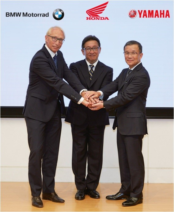 BMW Motorrad, Honda and Yamaha cooperate to further increase safety of powered two-wheelers