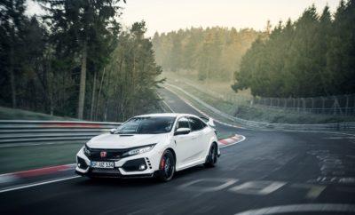 Το νέο Honda Civic Type-R πέτυχε νέο ταχύτερο γύρο για προσθιοκίνητα αυτοκίνητα στην πίστα του Nurburgring