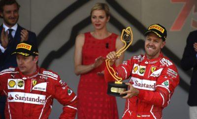 """Ο οδηγός της Ferrari, Σεμπάστιαν Φέτελ κέρδισε στο Grand Prix του Μονακό ακολουθώντας στρατηγική μιας αλλαγής ultrasoft/supersoft όπως αναμένονταν. Ο νικητής έκανε μεγαλύτερο πρώτο μέρος και κινήθηκε ταχύτερα στο τέλος του, απ' ότι ο έτερος οδηγός της Ferrari, Kimi Raikkonen που εκκίνησε από την pole και τερμάτισε δεύτερος. Την ίδια στρατηγική 'overcut' ακολούθησε και ο οδηγός της Red Bull, Daniel Ricciardo. Έτσι κέρδισε δυο θέσεις σε σχέση με την σειρά που εκκινούσε ανέβηκε τελικά στο βάθρο. Οι Jenson Button (McLaren) και Pascal Wehrlein (Sauber) επιχείρησαν αλλαγή στην αρχή ελπίζοντας να κερδίσουν θέσεις μετέπειτα. Οι περισσότεροι οδηγοί ακολούθησαν τακτική μια αλλαγής ελαστικών. Μερικοί όμως είχαν εναλλακτική προσέγγιση. Κατά τη διάρκεια της παρουσίας του αυτοκινήτου ασφαλείας 15 γύρους πριν το τέλος, ο οδηγός της Red Bull, Max Verstappen έκανε 2η αλλαγή και έβαλε ένα ακόμη σετ πάρα πολύ μαλακής γόμας σε μια προσπάθεια να περάσει τη Mercedes του Valtteri Bottas. Ο άλλος οδηγός της Mercedes, Lewis Hamilton εκκίνησε από την 13η θέση και συμπλήρωσε μεγάλη απόσταση στο πρώτο μέρος με την πάρα πολύ μαλακή γόμα. Τελικά τερμάτισε έβδομος. Κατεγράφησαν δυο κλαταρίσματα προς το τέλος του αγώνα λόγω προβλήματος στην πίστα στην έξοδο της στροφής 1. Αφήνοντας στην άκρη το κομμάτι κατά το οποίο, οδήγησε την κούρσα, το αυτοκίνητο ασφαλείας, ήταν ένα από τα ταχύτερα GP στην ιστορία του Moνακό. Ο ταχύτερος γύρος αγώνα που σημειώθηκε από τον οδηγό της Force India, Sergio Perez ήταν πάνω από 3 δευτερόλεπτα καλύτερος από την αντίστοιχη επίδοση του 2016. Η περσινή επίδοση είχε ήδη καταρριφθεί από τον 2ο κιόλας γύρο του φετινού αγώνα. MARIO ISOLA – ΕΠΙΚΕΦΑΛΗΣ ΑΓΩΝΩΝ ΑΥΤΟΚΙΝΗΤΟΥ """"Μολονότι ήταν ξεκάθαρο ότι η στρατηγική της μιας αλλαγής θα ήταν η βέλτιστη, είδαμε μια ευρεία ποικιλία εναλλακτικών επιλογών όσον αφορά στο χρόνο πραγμάτωσης της αλλαγής. Όπως ήταν αναμενόμενο η φθορά και η πτώση στην απόδοση λόγω θερμικής καταπόνησης ήταν χαμηλές. Αυτό επέτρεψε την πραγματοποίηση μεγάλων απ"""