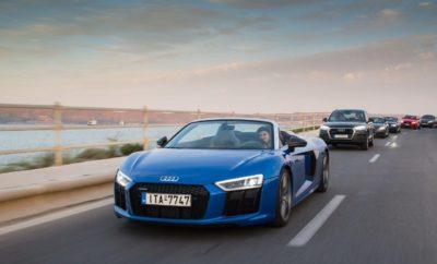 Audi Experience Event» Με μεγάλη επιτυχία πραγματοποιήθηκε το Audi Experience Event, το διάστημα 2 – 9 Μαΐου 2017 στο Island. Σκοπός της εκδήλωσης ήταν να δοθεί η ευκαιρία στα στελέχη των εταιριών leasing, να δουν από κοντά αλλά και να οδηγήσουν σε μία ειδικά σχεδιασμένη διαδρομή τα ξεχωριστά αυτοκίνητα της Audi R8 Spyder, TTS, S5 Coupé 3.0 TFSI quattro tiptronic, A4 allroad, Q2 Edition #1, Q3 S line Competition (Limited Edition), Q5, SQ7 4.0 TDI 435hp, S3, Q3 και A5 Sportback. Ταυτόχρονα, οι συμμετέχοντες είχαν τη δυνατότητα να ανακαλύψουν την τεχνολογική υπεροχή των μοντέλων, να αισθανθούν την δύναμη και την ασφάλεια που προσφέρουν τα αυτοκίνητα αυτά, να χαρούν την ταχύτητα και να ζήσουν μία μοναδική οδηγική εμπειρία.