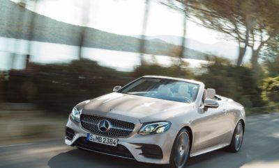 Έναρξη παραγγελιών για την E-Class Cabriolet! Η Mercedes-Benz ολοκληρώνει την οικογένεια της E-Class με τη νέα E-Class Cabriolet. Αυτό το ανοιχτό τετραθέσιο μοντέλο με τη μαλακή, υφασμάτινη οροφή συνδυάζει τον αρμονικό σχεδιασμό με την απόλυτη άνεση για τέσσερις επιβάτες ενώ ενσωματώνει τα πιο σύγχρονα τεχνολογικά επιτεύγματα. Η νέα E-Class Cabriolet δέχεται παραγγελίες από σήμερα με τιμές που ξεκινούν από €74.150. Δελτίο Τύπου 19 Ιουνίου 2017 Η νέα E-Class Cabriolet είναι σημαντικά μεγαλύτερη από την προκάτοχό της. Τόσο ο οδηγός, όσο και οι συνεπιβάτες μπορούν να απολαύσουν την απόλυτη άνεση σε μεγάλα ταξίδια χάρη στα τέσσερα υψηλής ποιότητας καθίσματα. Κατά το λανσάρισμα του μοντέλου στην αγορά, δίνεται η δυνατότητα επιλογής ανάμεσα σε τέσσερις δυνατούς και αποδοτικούς κινητήρες πετρελαίου και βενζίνης, συμπεριλαμβανομένων – για πρώτη φορά – εκδόσεων με μόνιμη τετρακίνηση 4MATIC. Παρακάτω παρατίθεται η γκάμα των μοντέλων που θα είναι διαθέσιμη στη χώρα μας από τον Σεπτέμβριο: E 220 d E 350 d 4MATIC E 200 E 300 E 400 4MATIC Κύλινδροι / διάταξη 4/σε σειρά 6/V 4/σε σειρά 4/σε σειρά 6/V Κυβισμός (cc) 1950 2987 1991 1991 2996 Απόδοση (kW/hp) σε rpm 143/194 σε 3800 190/258 σε 3400 135/184 σε 5500 180/245 σε 5500 245/333 σε 5250 – 6000 Μέγιστη ροπή (Nm) σε rpm 400 σε 1600 – 2800 620 σε 1600 – 2400 300 σε 1200 - 4000 370 σε 1400 – 4000 480 σε 1600 – 4000 Κατανάλωση (l/100 km)2 4.3 8.1 6.2 6.8 8.3 Εκπομπές CO2 (g/km)2 113 170 142 154 187 Τιμές από (σε Ευρώ)1 74.150 € 95.340 € 74.920 € 84.520 € 103.670 € 1 Όλες οι τιμές; Προτεινόμενες τιμές λιανικής στην Ελλάδα με ΦΠΑ 24% 2 Συνδυασμένος κύκλος NEDC. Έναρξη πωλήσεων E 350 d 4MATIC (κατανάλωση καυσίμου συνδυασμένος κύκλος: 8.1 l/100 km; συνδυασμένος κύκλος εκπομπών CO2: 170 g/km) στα μέσα Ιουλίου. Τα τεχνολογικά highlights της νέας E-Class Cabriolet περιλαμβάνουν την σύνδεση smartphone με ασύρματη φόρτιση και λειτουργία κλειδιού, ένα Cockpit με ευρεία οθόνη (Widescreen) και τα πιο εξελιγμένα συστήματα υποβοήθησης που διαθέτει