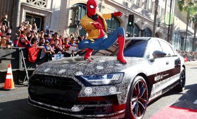 """Κινηματογραφική σκηνή από το πολυτελές Audi A8 στη νέα ταινία """"Spider – Man: Homecoming""""» Στη νέα ταινία της Marvel ο Tom Holland παίζει τον 'Peter Parker' ο οποίος είναι οδηγός του νέου Audi A8 L και εμφανίζεται σε ξεκαρδιστική σκηνή στην οποία το νέο Α8 μας επιδεικνύει τις δυνατότητες της αυτόνομης οδήγησης και μιας σειράς άλλων νέων καινοτομιών. Δείτε το παρακάτω video:"""
