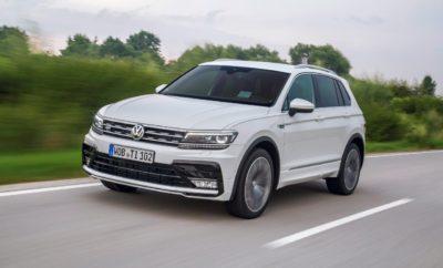 """Volkswagen Tiguan - Νέοι Κινητήρες, Νέες Εκδόσεις, Νέες Τιμές» • Νέα γκάμα κινητήρων βενζίνης TSI και diesel TDI από 1.4l έως 240PS • Tiguan R-Line: SUV χαρακτήρας σε Sport μανδύα • Νέες τιμές με όφελος έως €4.750 Το νέο Tiguan αναβαθμίζεται με νέους κινητήρες βενζίνης TSI & diesel TDI και νέες sport-εκδόσεις, ενώ διατίθεται παράλληλα με όφελος έως €4.750. Αναλυτικότερα: Νέοι κινητήρες TSI & TDI Το Tiguan διαθέτει μία νέα, πλήρη γκάμα κινητήρων βενζίνης TSI και diesel TDI. Πιο συγκεκριμένα, ξεκινά άμεσα η διάθεση του Tiguan με τον κινητήρα βενζίνης 2.0 TSI 180PS 4Motion, καθώς και με τον κορυφαίο κινητήρα diesel 2.0 Bi-TDI 4Motion απόδοσης 240PS. Και οι 2 κινητήρες συνδυάζονται αποκλειστικά με κιβώτιο DSG7. Επίσης, για πρώτη φορά, το Tiguan εφοδιάζεται με τον κινητήρα βενζίνης 1.4 TSI 150PS 4Motion με κιβώτιο DSG6. Επιπρόσθετα, όλοι οι κινητήρες 2.0 TDI περιλαμβάνουν στον βασικό εξοπλισμό Ηλεκτρoνικά Ρυθμιζόμενες Αναρτήσεις DCC (Dynamic Chassis Control). Με τις προσθήκες των νέων κινητήρων, το Tiguan αποτελεί το SUV με την μεγαλύτερη γκάμα κινητήρων βενζίνης & diesel στην Ελληνική αγορά, προσφέροντας τις ακόλουθες 12 επιλογές: Κινητήρες Βενζίνης Κινητήρες Diesel 1.4 TSI 125PS 1.6 TDI 115PS 1.4 TSI 150PS ACT 2.0 TDI 150PS 1.4 TSI 150PS ACT DSG6 2.0 TDI 150PS DSG7 1.4 TSI 150PS ACT 4Motion 2.0 TDI 150PS 4Motion 1.4 TSI 150PS 4Motion DSG6 2.0 TDI 190PS 4Motion DSG7 2.0 TSI 180PS 4Motion DSG7 2.0 Bi TDI 240PS 4Motion DSG7 Νέα Έκδοση Sport Έκδοση «Tiguan R-Line» Στην γκάμα εκδόσεων του Tiguan, έρχεται να προστεθεί η Sport έκδοση R-Line. Συνδυάζοντας ιδανικά τον SUV χαρακτήρα με τον δυναμικό και elegant σχεδιασμό, το Tiguan R-Line μαγνητίζει το βλέμμα διαθέτοντας τα ακόλουθα ειδικά εξωτερικά χαρακτηριστικά: • Σπορ προφυλακτήρες ειδικής σχεδίασης """"R"""" • Διευρυμένα πλευρικά μαρσπιέ στο χρώμα του αμαξώματος • Ζάντες αλουμινίου """"Sebring"""" διάστασης 8,5J x 19' & ελαστικά 255/45 R19 • Πίσω διαχύτη σε μαύρο γυαλιστερό χρώμα • Πίσω αεροτομή οροφής σχεδίασης """"R"""" • Έμβλημα R-Line πλε"""