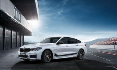 Η νέα BMW Σειρά 6 Gran Turismo είναι απαράμιλλα γοητευτική, απίστευτα ευέλικτη και εξαιρετικά δυναμική. Η αποκλειστική γκάμα Αξεσουάρ BMW M Performance θα διατίθεται από το λανσάρισμά της το Νοέμβριο του 2017 με σκοπό να αναδείξει το σπορ χαρακτήρα της. Τα retrofit αξεσουάρ για το σύστημα κίνησης, την ανάρτηση, το εξωτερικό και το cockpit - εμπνευσμένα από το μηχανοκίνητο αθλητισμό - αναβαθμίζουν τη δυναμική συμπεριφορά και χαρίζουν στη νέα BMW Σειρά 6 Gran Turismo μία έντονα εκφραστική εμφάνιση. Η αναγνωρισμένη, αγωνιστική τεχνογνωσία της BMW M GmbH, όπου βασίστηκε η εξέλιξη των εξαρτημάτων, αντανακλάται στο αυθεντικό στυλ της σειράς BMW M Performance. Όλα τα προϊόντα πληρούν τα υψηλά πρότυπα του BMW Group ως προς την επιλογή υλικών, το design και την ποιότητα κατασκευής. Η εκ των υστέρων τοποθέτησή τους δεν έχει την οποιαδήποτε επίπτωση στους όρους εγγύησης που ισχύουν για το αυτοκίνητο. Το σύστημα σιλανσιέ BMW M Performance προσφέρει στη BMW Σειρά 6 Gran Turismo μία πραγματικά εντυπωσιακή ακουστική και οπτική διάσταση. Διαμορφώνει μία εντυπωσιακή εμφάνιση στο πίσω τμήμα και διασφαλίζει έναν σπορ ήχο, ο οποίος είναι κατάλληλος και για ταξίδια μεγάλων αποστάσεων. Το σιλανσιέ κατασκευάζεται από ανοξείδωτο ατσάλι και εξελίχθηκε ειδικά για τα βενζινοκίνητα μοντέλα BMW 630i Gran Turismo (κατανάλωση μικτού κύκλου: 6,6 – 6,2 l/100 km, εκπομπές CO2 στο μικτό κύκλο: 152 – 142 g/km), BMW 640i Gran Turismo (κατανάλωση μικτού κύκλου: 7,4 – 7,0 l/100 km, εκπομπές CO2 στο μικτό κύκλο: 169 – 159 g/km), BMW 640i xDrive Gran Turismo (κατανάλωση μικτού κύκλου: 8,2 – 7,7 l/100 km, εκπομπές CO2 στο μικτό κύκλο: 187 – 177 g/km). Ανάλογα με τον τύπο του κινητήρα και τον εξοπλισμό, διατίθεται είτε με στρογγυλές ή με τραπεζοειδείς απολήξεις εξαγωγής από χρώμιο ή ανθρακονήματα. Οι στρογγυλές απολήξεις διαθέτουν χαραγμένο λογότυπο Μ και οι τραπεζοειδείς αντίστοιχα το λογότυπο M Performance. Η δυναμική συμπεριφορά αλλά και η εξωτερική γοητεία της νέας BMW Σειράς Gran Turismo προάγονται με ζ