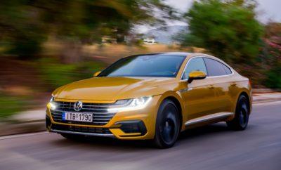 """Το νέο Volkswagen Arteon. Ένα Avant Garde Gran Turismo Σημαντικά στοιχεία: Το Arteon επιγραμματικά 1. Το Arteon είναι το νέο 5θέσιο Gran Turismo της Volkswagen, που τοποθετείται πιο πάνω από το παγκοσμίως επιτυχημένο Passat. 2. Το 5θυρο μοντέλο συνδυάζει την άνεση και τους χώρους μίας μεγάλης λιμουζίνας με το δυναμισμό και την ελκυστική σχεδίαση ενός σπορ κουπέ αυτοκινήτου. 3. Ο όγκος του χώρου αποσκευών, από 563 έως 1.557 λίτρα, ξεπερνά τις δυνατότητες φόρτωσης ακόμη και ενός μεγάλου SUV. 4. Το πολυτελές εσωτερικό εντυπωσιάζει με τη κατασκευαστική αρτιότητα και τα υλικά κορυφαίας επιλογής. 5. Τα τελευταίας γενιάς συστήματα υποβοήθησης του οδηγού προβλέπουν και «αντιδρούν» στους περιορισμούς των ορίων ταχύτητας, στις στροφές και στους κυκλικούς κόμβους. 6. Οι αποδοτικοί κινητήρες TSI και TDI του Arteon παρέχουν ένα εύρος ισχύος από 110 kW / 150 PS έως 206 kW / 280 PS. 7. Οι κορυφαίες TSI και TDI εκδόσεις εφοδιάζονται στάνταρντ με κιβώτιο ταχυτήτων διπλού συμπλέκτη (DSG) 7-σχέσεων και τετρακίνηση (4MOTION). 8. Οι στάνταρντ προβολείς LED συγχωνεύονται σχεδιαστικά στις γρίλιες της εμπρός μάσκας και το καπό του κινητήρα, σχηματίζοντας το νέο «πρόσωπο» της Volkswagen. 9. Το Arteon εφοδιάζεται στάνταρτ με τον Ψηφιακό & Διαδραστικό Πίνακα Οργάνων (Active Info Display) και το σύστημα πλοήγησης και ψυχαγωγίας """"Discover Pro"""" με την οθόνη 9,2 ιντσών και την λειτουργία ανέπαφου χειρισμού Gesture Control. 10. Η στρεπτική ακαμψία είναι μεγαλύτερη κατά 10% σε σχέση με μίας αντίστοιχης λιμουζίνας (sedan). Οι δηλώσεις για το Arteon «Το Arteon ενώνει τα σχεδιαστικά στοιχεία ενός κλασικού σπορ μοντέλου με την κομψότητα και τους πλούσιους χώρους ενός fastback. Ένα avant garde business class gran turismo, το οποίο αγγίζει στον ίδιο βαθμό την καρδιά και το μυαλό.» Klaus Bischoff, αρχισχεδιαστής της μάρκας Volkswagen «Με το Arteon εφαρμόζεται στην πράξη μία νέα γενιά συστημάτων υποβοήθησης του οδηγού στη Volkswagen. Σε αυτά ανήκει το περαιτέρω εξελιγμένο Emergency Assist. Μέχρι στιγμής, α"""