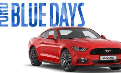 Η Ford Γεμίζει τις Ημέρες σας Με Μπλε Χρώμα Αντισταθείτε στο γκρι του φθινοπώρου και γεμίστε τις ημέρες σας με περισσότερο μπλε χάρη στις Ford Blue Days! Μέχρι το τέλος Νοεμβρίου, η μάρκα του μπλε οβάλ σας προσφέρει τη δυνατότητα να αποκτήσετε την ξεχωριστή εμφάνιση και τον ιδιαίτερα πλούσιο εξοπλισμό των αυτοκινήτων που συμμετέχουν στις Ford Blue Days με επιπλέον όφελος έως 9.655€ και προνομιακό επιτόκιο 2,99%. Το προωθητικό πρόγραμμα Ford Blue Days ισχύει για περιορισμένο αριθμό επιβατικών και επαγγελματικών οχημάτων και για τα παρακάτω μοντέλα: Επιβατικά: • Νέο Ford KA+ με προνομιακό επιτόκιο 2,99%. • Ford Fiesta με όφελος έως 1.560€ και προνομιακό επιτόκιο 2,99%. • Ford Focus με όφελος έως 2.513€ και προνομιακό επιτόκιο 2,99%. • Ford C-Max, S-Max & Galaxy με όφελος έως 3.266€, 6.600€ και 9.655€ αντίστοιχα και προνομιακό επιτόκιο 2,99%. • Ford Mondeo με όφελος έως 4.382 € και προνομιακό επιτόκιο 2,99%. • Ford Edge με προνομιακό επιτόκιο 2,99% και επιπλέον όφελος ανταλλαγής • Ford Mustang με προνομιακό επιτόκιο 2,99%. Επαγγελματικά: • Ford Ranger με όφελος έως 4.345€ και προνομιακό επιτόκιο 2,99%. • Ford Transit με όφελος έως 6.573€. • Ford Transit Custom με όφελος έως 6.839€ Στο επιτόκιο δεν συμπεριλαμβάνεται η εισφορά 0,6%. Για περισσότερες πληροφορίες επισκεφτείτε τον πλησιέστερο Επίσημο Έμπορο Ford ή την ιστοσελίδα της Ford (www.ford.gr). # # #