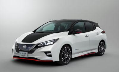 Η Nissan θα παρουσιάσει το LEAF NISMO Concept, στο Σαλόνι Αυτοκινήτου του Τόκιο. Με μια σειρά από συναρπαστικά πρωτότυπα αυτοκίνητα και οχήματα παραγωγής, η Nissan αναμένεται να μαγνητίσει τα βλέμματα στο 45ο Σαλόνι Αυτοκινήτου του Τόκιο, οι πύλες του οποίου θα είναι ανοικτές για το κοινό από τις 27 Οκτωβρίου έως τις 5 Νοεμβρίου. Ανάμεσα στα εκθέματα, περίοπτη θέση θα έχει ένα νέο πρωτότυπο που ενσωματώνει το μέλλον του οράματος Intelligent Mobility της Nissan. Επιπλέον, το πρωτότυπο Nissan LEAF NISMO, το υψηλών επιδόσεων Serena NISMO, καθώς και ένα αναβαθμισμένο Skyline θα πραγματοποιήσουν το ντεμπούτο τους εκεί. Συνολικά, η Nissan σχεδιάζει να παρουσιάσει 13 οχήματα. LEAF NISMO Concept: Το κορυφαίο, αμιγώς ηλεκτροκίνητο αυτοκίνητο της Nissan, συναντά τον ενθουσιασμό της NISMO Με την εμπορική του διάθεση στην Ιαπωνία να έχει ξεκινήσει εδώ και λίγες ημέρες, το νέο Nissan LEAF έρχεται με ενσωματωμένη την τελευταία τεχνολογία αυτόνομης οδήγησης ProPILOT. Το σύστημα περιλαμβάνει επίσης το ProPILOT Park, την πρώτη τεχνολογία σε ένα ιαπωνικό αυτοκίνητο που βοηθά τους οδηγούς να σταθμεύουν ελέγχοντας αυτόματα το γκάζι, τα φρένα, το τιμόνι, την αλλαγή ταχυτήτων και το χειρόφρενο. Ένα άλλο χαρακτηριστικό του νέου LEAF είναι το e-Pedal, το οποίο επιτρέπει στον οδηγό να ξεκινήσει, να επιταχύνει, να επιβραδύνει, να σταματήσει αλλά και να κρατήσει το αυτοκίνητο, χρησιμοποιώντας μόνο το πεντάλ του γκαζιού. Η έκδοση NISMO Concept του νέου LEAF, διαθέτει ένα νέο σπορ εξωτερικό, ειδικά σχεδιασμένο από τη NISMO. Η εφαρμογή της τεχνολογίας των αγωνιστικών αυτοκινήτων της NISMO στο αμάξωμα του LEAF, έχει ως αποτέλεσμα βελτιωμένη αεροδυναμική απόδοση και λιγότερη άντωση, χωρίς να θυσιάζεται ο εξαιρετικός συντελεστής οπισθέλκουσας του μοντέλου. Το μαύρο εσωτερικό έχει εμπλουτιστεί με τις λεπτομέρειες στο χαρακτηριστικό κόκκινο χρώμα της NISMO, δημιουργώντας ένα συναρπαστικό, υψηλής ποιότητας αισθητικό αποτέλεσμα. Στο δρόμο, το LEAF NISMO Concept προσφέρει μια πραγματικά συναρπαστική οδή