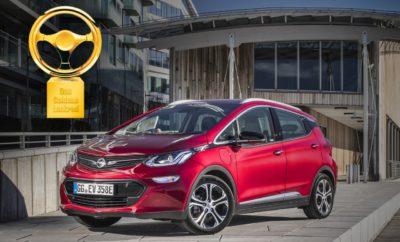 """Το Opel Ampera-e Κερδίζει το """"Χρυσό Τιμόνι 2017"""""""