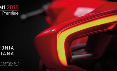 Η Ducati στη Διεθνή Έκθεση Μοτοσυκλέτας Μιλάνου – EICMA 2017 Η νέα γκάμα της ιταλικής μάρκας παρουσιαζεται σε παγκόσμια πρεμιέρα την Κυριακή το βράδυ Η Ducati συμμετέχει στην 75η Διεθνή Έκθεση Μοτοσυκλέτας του Μιλάνου - EICMA 2017 (Esposizione Internazionale Ciclo Motociclo e Accessori), παρουσιάζοντας τη νέα γκάμα της για το 2018. Η EICMA, η μεγαλύτερη έκθεση του είδους στον κόσμο, φέτος θα διαρκέσει 9-12 Νοεμβρίου και αναμένεται για άλλη μια χρονιά να προσελκύσει το παγκόσμιο ενδιαφέρον των φίλων των δύο τροχών. Λίγες μέρες πριν την επίσημη έναρξη της έκθεσης, η ιταλική φίρμα παρουσιάζει σε παγκόσμια πρεμιέρα, την πλήρη, νέα γκάμα της. Ο Κλαούντιο Ντομενικάλι (Claudio Domenicali), CEO της Ducati, θα ξεναγήσει τους εκπροσώπους του διεθνούς ειδικού Τύπου σε ένα ταξείδι στο στυλ, την τεχνολογία, τις επιδόσεις και το πάθος. Η εκδήλωση, θα φιλοξενήσει την Sinfonia Italiana (Ιταλική Συμφωνία) η οποία θα μαγέψει με τις νότες της μάρκας από το Borgo Panigale και θα λάβει χώρα την Κυριακή το βράδυ, στις 09.00, στο Θέατρο Linear Ciak του Μιλάνου, το οποίο για την περίσταση θα είναι βαμένο κόκκινο.