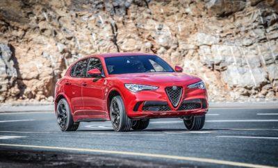 """Alfa Romeo Stelvio Quadrifoglio Διεθνής Παρουσίαση Το πρώτο """"Quadrifoglio"""" SUV. Αυτή είναι η Stelvio Quadrifoglio, το νέο μοντέλο με πολλά κορυφαία χαρακτηριστικά, το οποίο αποτελεί νέο σημείο αναφοράς στην κατηγορία των συμπαγών SUV. Με τον εντυπωσιακό σχεδιασμό, τις επιδόσεις και την τεχνολογία που ενσωματώνει, η Stelvio Quadrifoglio είναι το """"ταχύτερο SUV σε πίστα"""", έχοντας σημειώσει το νέο ρεκόρ στην κατηγορία στο εμβληματικό Nürburgring με χρόνο 7 λεπτά και 51,7 δευτερόλεπτα. Η Stelvio Quadrifoglio είναι εξοπλισμένη με τον αποκλειστικό αλουμινένιο βενζινοκινητήρα V6 Bi-Turbo 2,9 λίτρων, εμπνευσμένο από τις τεχνολογίες και την τεχνογνωσία της Ferrari, που αποδίδει μέγιστη ισχύ 510 HP στις 6.500 σ.α.λ. και μέγιστη ροπή 600 Nm από τις 2.500 έως τις 5.000 σ.α.λ. Ο συγκεκριμένος κινητήρας συνεργάζεται ιδανικά με το ειδικό αυτόματο κιβώτιο ταχυτήτων 8-σχέσεων, με τις αλλαγές να Rπραγματοποιούνται σε μόλις 150 χιλιοστά του δευτερολέπτου στη λειτουργία Race. Για μια ακόμα πιο συναρπαστική οδηγική εμπειρία, το μοντέλο διαθέτει στον βασικό του εξοπλισμό αλουμινένια paddles αλλαγής ταχυτήτων που είναι τοποθετημένα στην κολώνα του τιμονιού. Οι επιδόσεις του είναι εξαιρετικές: επιτάχυνση 0-100 km/h σε μόλις 3,8 δευτερόλεπτα και κορυφαία τελική ταχύτητα στην κατηγορία (283 km/h). Το σπορ SUV της Alfa Romeo ξεχωρίζει επίσης σε επίπεδο εκπομπών ρύπων και κατανάλωσης καυσίμου, χάρη στο ηλεκτρονικά ελεγχόμενο σύστημα απενεργοποίησης κυλίνδρων και στη λειτουργία """"sailing"""", που διατίθεται στη ρύθμιση Advanced Efficiency. Για πρώτη φορά, ο βενζινοκινητήρας 2,9 λίτρων V6 Bi-Turbo 510 HP συνδυάζεται με το πρωτοποριακό σύστημα τετρακίνησης Q4 και εγγυάται ασυναγώνιστες επιδόσεις, πρόσφυση, οδηγική απόλαυση και ασφάλεια σε όλες τις συνθήκες. Επιπλέον, η Stelvio Quadrifoglio είναι εξοπλισμένη με την αποκλειστική μονάδα AlfaTM Chassis Domain Control, ενώ είναι το μοναδικό SUV στην κατηγορία του που διαθέτει το διαφορικό AlfaTM Active Torque Vectoring στον βασικό εξοπλισμό. Επίσης, στον β"""