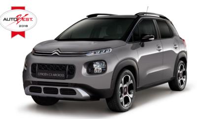 """Το νέο Citroën C3 Aircross Next Gen. SUV κέρδισε τον τίτλο του """"Καλύτερου Αυτοκινήτου για την Ευρώπη"""" (""""BEST Buy Car of Europe"""") από το Autobest για το 2018, με σημαντική βαθμολογική διαφορά από τους αντιπάλους του."""