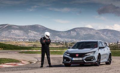 • Συνεχίζει την παράδοση της Honda στα hatchback υψηλών επιδόσεων • Άκαμπτο πλαίσιο με προηγμένα συστήματα προσαρμοζόμενης ανάρτησης και διεύθυνσης • Το πιο γρήγορο και με την καλύτερη επιτάχυνση όχημα στην κατηγορία • Νέα, κατ' επιλογή προγράμματα οδήγησης προσφέρουν απαράμιλλη χρηστικότητα • Παράλληλη εξέλιξη με το στάνταρ Civic hatchback, με αμοιβαία οφέλη για τη δυναμική συμπεριφορά και των δύο οχημάτων Το νέο Honda Civic Type R έχει κατασκευαστεί εξ αρχής για να προσφέρει την πιο απολαυστική οδηγική εμπειρία στην κατηγορία hot hatch– στο δρόμο και στην πίστα. To νέο Honda Civic Type R είναι άμεσα διαθέσιμο μέσα από το Δίκτυο των Επισήμων Εμπόρων της εταιρείας Αδελφοί Σαρακάκη Α.Ε.Β.Μ.Ε. Επίσημος Εισαγωγέας-Διανομέας της Honda στην Ελλάδα, σε δύο εκδόσεις: • Civic Type R 2.0 Petrol MT Honda Connect 49,740€ • Civic Type R 2.0 Petrol MT GT Honda Connect Navi 53,650€ Βασισμένο σε εντελώς νέες σχεδιαστικές αρχές , το Type R εξελίχθηκε παράλληλα με το νέο, στάνταρ μοντέλο Civic hatchback, με αμοιβαία οφέλη για τη δυναμική συμπεριφορά και την πολιτισμένη λειτουργία και των δύο εκδόσεων. Συνεχίζει την κληρονομιά της οικογένειας μοντέλων hatchback υψηλών επιδόσεων της Honda, συνδυάζοντας τη γνήσια δυναμική της εμπρόσθιας κίνησης (FWD) με εντυπωσιακή σχεδίαση και μελετημένη αεροδυναμική. Ένα νέο βολάν μονής μάζας σε συνδυασμό με το 'στρωτό' εξατάχυτο μηχανικό κιβώτιο μειώνει την αδράνεια του συμπλέκτη κατά 25%, και συνδυάζεται με μικρότερη τελική σχέση μετάδοσης κατά 7% για βελτιωμένη απόκριση κατά την επιτάχυνση. Η λειτουργία συγχρονισμού στροφών κινητήρα-κιβωτίου εξαφανίζει τους κραδασμούς κατά τις αλλαγές λόγω μεγάλης διαφοράς στροφών, ενώ απογειώνει την απόλαυση της οδήγησης ενός σπορ αυτοκινήτου με μηχανικό κιβώτιο. Ένα ελαφρύ, άκαμπτο αμάξωμα – προϊόν καινοτόμων, νέων τεχνικών σχεδιασμού & κατασκευής – συμπληρώνει το χαμηλότερο κέντρο βάρους και το νέο, προηγμένο σύστημα ανάρτησης, συμβάλλοντας στη δυναμική συμπεριφορά του οχήματος. Το προηγμένο σύστημα εμπρός ανάρ