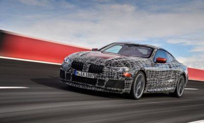 Με την παρουσίαση της BMW Σειράς 8 Concept, η BMW έχει ήδη δώσει μία πρώτη γεύση από τη σχεδίαση του νέου, σπορ, πολυτελούς μοντέλου που 'προσεγγίζει' την έκδοση παραγωγής. Τα δυναμικά χαρακτηριστικά της νέας BMW Σειράς 8 Coupe το δηλώνουν απερίφραστα. Ένα πρωτότυπο προ-παραγωγής αυτή τη στιγμή υποβάλλεται σε εντατικές δοκιμές στην οβάλ πίστα υψηλών ταχυτήτων της Aprilia στην Ιταλία. Οι δοκιμές στοχεύουν κυρίως στη βελτιστοποίηση της δυναμικής συμπεριφοράς σε οδοστρώματα με υψηλό συντελεστή τριβής και σηματοδοτούν ένα ακόμα πιο αποφασιστικό στάδιο στο δρόμο για το λανσάρισμα της νέας BMW Σειράς 8 Coupe μέσα στο 2018. Τα test drives διεξάγονται με ένα 'βαριά' καμουφλαρισμένο πρωτότυπο, το οποίο όμως προδίδει έντονα τις κλασικές σπορ αναλογίες της νέας BMW Σειράς 8 Coupe. Όπως και στην περίπτωση της BMW Σειράς 8 Concept, οι αεροδυναμικές γραμμές, η 'επίπεδη' σιλουέτα και τα ισχυρά εμπρός και πίσω τμήματα, προαναγγέλλουν μία συναρπαστική σπορ εμπειρία. Αυτή η αίσθηση επιβεβαιώνεται με κάθε γύρο που ολοκληρώνεται στην πίστα δοκιμών στην Ιταλία. Η οβάλ πίστα μήκους περίπου 4 km που περιλαμβάνει και απότομες στροφές, βρίσκεται σε μία περιοχή κοντά στη Ρώμη και είναι ιδανική για δοκιμές με υψηλές ταχύτητες και υψηλό συντελεστή τριβής. Επιπλέον, η επιτάχυνση, το φρενάρισμα και η κατευθυντικότητα του νέου σπορ αυτοκινήτου αναλύονται σε σιρκουί, πορείες σλάλομ και διαφορετικούς τύπους οδοστρωμάτων. Το πολύ αυστηρό πρόγραμμα δοκιμών διευκολύνει το στοχευμένο συντονισμό όλων των συστημάτων κίνησης και ανάρτησης. Η νέα BMW Σειρά 8 Coupe έχει επιδείξει μέγιστη ευελιξία και ακρίβεια σε πολύ δυναμικές συνθήκες. Παρομοίως, το αυτοκίνητο μπορεί τώρα να ικανοποιεί τις υψηλότερες απαιτήσεις και σε επίπεδο πολυτέλειας και άνεσης. «Οι δοκιμές στις πιο απαιτητικές συνθήκες δείχνουν ότι έχουμε πιάσει το στόχο μας με το πρωτότυπο για τη νέα BMW Σειρά 8 Coupe. Οι δυναμικές επιδόσεις που καταγράφονται είναι απόλυτα εντυπωσιακές. Πελάτες και φίλοι της μάρκας μπορούν να προσβλέπουν σε ένα γνήσι