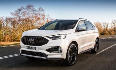 • Το νέο SUV Ford Edge κάνει το Ευρωπαϊκό ντεμπούτο του σε έκδοση ST-Line, με καινοτόμες τεχνολογίες υποστήριξης οδηγού, ισχυρούς νέους κινητήρες και premium εξοπλισμό άνεσης • Ο κινητήρας 2.0 EcoBlue 238 PS της Ford υιοθετεί νέο σύστημα bi-turbo που βελτιστοποιεί τη ροπή στις χαμηλές στροφές, την πολιτισμένη λειτουργία και την οικονομία καυσίμου • Post-Collision Braking, Evasive Steering Assist, και Adaptive Cruise Control με Stop-and-Go και Lane Centring Assist ξεχωρίζουν στο ολοκληρωμένο πακέτο τεχνολογιών • SYNC3 με οθόνη αφής 8 ιντσών προσφέρει άμεση συνδεσιμότητα. Premium ηχοσύστημα B&O PLAY 1000 watt και ασύρματη φόρτιση τηλεφώνου • Το σπορ Edge ST-Line προσφέρει επιδόσεις Ford Performance, περιλαμβάνει ζάντες 20 ιντσών και διακοσμητικά πάνελ στο χρώμα του αμαξώματος, σπορ ανάρτηση και σύστημα τετρακίνησης Ford Intelligent All Wheel Drive Η Ford αποκάλυψε το νέο SUV Ford Edge για την Ευρωπαική αγορά – πρόκειται για το πιο προηγμένο τεχνολογικά SUV στην ιστορία της εταιρίας. Το νέο Ford Edge προσφέρει μία ολοκληρωμένη γκάμα τεχνολογιών υποστήριξης οδηγού, βασισμένων σε κάμερες και αισθητήρες, που κάνουν τα ταξίδια πιο άνετα, λιγότερο στρεσογόνα και βοηθούν τους οδηγούς να αποφύγουν ή να μετριάσουν της επιπτώσεις μιας σύγκρουσης. Για πρώτη φορά στην Ευρώπη διατίθενται τα συστήματα Post Collision Braking, Evasive Steering Assist, και Adaptive Cruise Control με Stop-and-Go και Lane Centring Assist. Το νέο Ford Edge λανσάρει επίσης για πρώτη φορά στην Ευρώπη, μία νέα, ισχυρή και αποδοτική έκδοση του κινητήρα diesel 2.0L EcoBlue της Ford, σε συνδυασμό με νέο, οκτατάχυτο, αυτόματο κιβώτιο για άνεση στο ταξίδι. Το νέο Ford Edge που παρουσιάστηκε σε σπορ έκδοση ST-Line, υιοθετεί νέα αισθητική μπροστά και πίσω, φαρδιά μάσκα με κυψελοειδή δομή, εντυπωσιακά προστατευτικά και πλαϊνές ποδιές στο χρώμα του αμαξώματος και στάνταρ ζάντες αλουμινίου 20 ιντσών. «Βοηθώντας τους πελάτες να διαχειρίζονται εύκολα της συνθήκες κυκλοφορίας στις πόλεις χάρη στις πιο προηγμένες τεχνολο