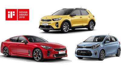 Τρία βραβεία για την Kia στο διαγωνισμό iF awards 2018 - Βραβεία «iF design» για τα νέα: Kia Stinger, Stonic και Picanto - 15 συνολικά τα βραβεία για την Kia - 6.400 συμμετοχές από 54 χώρες για βραβεία σχεδιασμού Η Kia Motors κατέκτησε τις 3 πρώτες θέσεις στα βραβεία 2018 «iF design», ενισχύοντας τη φήμη της μάρκας για τον εντυπωσιακό σχεδιασμό των αυτοκινήτων της. Το νέο Kia Stinger fastback sedan με το δυναμικό σχεδιασμό του, το Stonic το πιο εμπνευσμένο crossover με στυλ SUV και το πιο μικρό κι ευρύχωρο αυτοκίνητο πόλης Picanto, διακρίθηκαν στην κατηγορία 'Product Design'. Το 2018 είναι η δεύτερη σε συνέχεια χρονιά κατά την οποία η Kia κερδίζει τρία βραβεία (iF awards) και με το τελευταίο hat-trick αυξάνει στα 15 το συνολικό αριθμό των βραβείων της. Το Stinger, που σχεδιάστηκε στο ευρωπαϊκό κέντρο σχεδιασμού της Kia στη Φρανκφούρτη της Γερμανίας, συνδυάζει τον κλασικό σχεδιασμό Gran Turismo με ένα ευρύχωρο και ευχάριστο σχεδιαστικά εσωτερικό. Εμπνευσμένο από τα μεγάλα tourers της δεκαετίας του '70, το Stinger διαθέτει κομψές αναλογίες fastback και πολύ δυναμικές πλευρικές γραμμές οι οποίες καταλήγουν στο πίσω μέρος του αμαξώματος δημιουργώντας ένα πολύ μυώδες σχήμα. Σχεδιασμένο επίσης στη Φρανκφούρτη, το Stonic, το πρωτοποριακό κόμπακτ crossover της Kia, προσφέρει εντυπωσιακή και τολμηρή εξωτερική σχεδίαση με περιπετειώδες στυλ SUV. Διαθέτει μοντέρνο εσωτερικό με προηγμένη τεχνολογία και πολλές δυνατότητες εξατομίκευσης σε συνδυασμό με μια ευρεία επιλογή συνδυασμού χρωμάτων. Η τρίτη γενιά του μικρότερου αυτοκινήτου Kia Picanto - Kia επιδεικνύει ένα νεανικό και ευχάριστο χαρακτήρα στην κατηγορία Α. Διαθέτει νέο ξεχωριστό σχεδιασμό και υψηλής ποιότητας καμπίνα τελευταίας τεχνολογίας, με τεράστιες δυνατότητες εξατομίκευσης. Παρά τις συμπαγείς διαστάσεις του, ο έξυπνος σχεδιασμός του Picanto το καθιστά ένα από τα πιο ευρύχωρα αυτοκίνητα της κατηγορίας του. Βραβείο σχεδιασμού (iF award) 2018: 6.400 συμμετοχές από 54 χώρες Ο διαγωνισμός αυτός ξεκίνησε το 1953 στις εκθέ