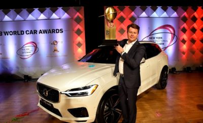 "Το Volvo XC60 Παγκόσμιο Αυτοκίνητο της Χρονιάς 2018 • To Volvo XC60 κατακτά τον τίτλο του Παγκόσμιου Αυτοκινήτου της Χρονιάς 2018 • Ακόμη ένα σημαντικό βραβείο στη λίστα με τις πρόσφατες κορυφαίες διακρίσεις των SUV της Volvo • Παγκόσμιο Πρόσωπο της Χρονιάς για την Αυτοκίνηση ο Χόκαν Σάμιουελσον (Håkan Samuelsson), Πρόεδρος και CEO της Volvo Cars Το νέο Volvo XC60 ανακηρύχθηκε Παγκόσμιο Αυτοκίνητο της Χρονιάς 2018 στην Έκθεση Αυτοκινήτου της Νέας Υόρκης, κατακτώντας ακόμη ένα κορυφαίο βραβείο για τη Volvo. Είναι η πρώτη φορά που η Volvo πρωτεύει στο θεσμό του World Car of The Year, λίγες μέρες αφότου πρόσθεσε στη συλλογή της τον επίζηλο τίτλο του Αυτοκινήτου της Χρονιάς 2018 για την Ευρώπη, με το νέο της compact SUV, XC40. Υπενθυμίζουμε ότι, ανάμεσα στις άλλες σημαντικές διακρίσεις που έχει στη συλλογή του το Volvo XC60, συμπεριλαμβάνεται και η πρωτιά στις δοκιμές του EuroNCAP για το 2017, που το καθιστά το ασφαλέστερο αυτοκίνητο σήμερα στον κόσμο. Το νέο XC60 εξοπλίζεται με σύστημα αυτόματου φρεναρίσματος City Safety τελευταίας γενιάς, με λειτουργία Steering Support, που επεμβαίνει και στο τιμόνι για να αποτρέψει μια πιθανή σύγκρουση. ""Είμαι ευτυχής που βλέπω τις προϊοντικές επενδύσεις μας να αποδίδουν"", δήλωσε ο Χόκαν Σάμιουελσον (Håkan Samuelsson), Πρόεδρος και CEO της Volvo Cars. ""Απέναντι σε έναν σκληρό ανταγωνισμό, το XC60 αποδεικνύει ότι η Volvo διαθέτει τον ιδανικό συνδυασμό design, συνδεσιμότητας και ασφάλειας που απηχεί τις προτιμήσεις των πελατών σε παγκόσμια κλίμακα"". Στις πρόσφατες διακρίσεις της Volvo συμπεριλαμβάνεται και η ανάδειξη του Χόκαν Σάμιουελσον ως ""Πρόσωπο της Χρονιάς για την Παγκόσμια Αυτοκίνηση"", από εκπροσώπους των διεθνών μέσων ενημέρωσης, στις αρχές αυτού του μήνα, στη Γενεύη. Το βραβείο έρχεται ως αναγνώριση της σημαντικής συνεισφοράς του στην επιτυχημένη πορεία της Volvo Cars τα τελευταία χρόνια."