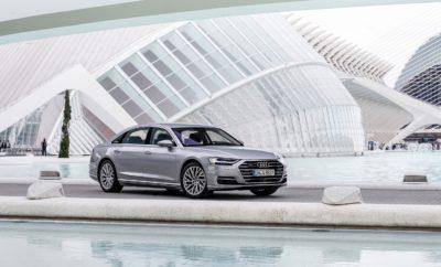 """Το Audi A8 «Παγκόσμιο Πολυτελές Αυτοκίνητο του 2018» • Κριτική επιτροπή αποτελούμενη από 82 δημοσιογράφους του ειδικού Τύπου από 24 χώρες απ΄ όλο τον κόσμο, ανακήρυξε το Audi A8 «Παγκόσμιο Πολυτελές Αυτοκίνητο του 2018» • Η τελετή απονομής του βραβείου πραγματοποιήθηκε κατά τη διάρκεια της Έκθεσης Αυτοκινήτου της Νέας Υόρκης • Πρόκειται για το ένατο συνολικά βραβείο που κατακτά η Audi στο θεσμό, από το 2005 Το νέο Audi A8 ανακηρύχθηκε «Παγκόσμιο Πολυτελές Αυτοκίνητου του 2018» (""""World Luxury Car 2018"""")! Η πολύ σημαντική αυτή διάκριση υπογραμμίζει με τον καλύτερο τρόπο το status της ναυαρχίδας της Audi ως η απόλυτη έκφραση του """"Vorsprung durch Technik"""" (Πρωτοπορία μέσω της Τεχνολογίας), του μότο της γερμανικής premium μάρκας. Η απονομή του βραβείου έγινε κατά τη διάρκεια της Έκθεσης Αυτοκινήτου της Νέας Υόρκης. Αξίζει να αναφερθεί ότι αυτό είναι το ένατο συνολικά βραβείο για την Audi, στο θεσμό, από το 2005! Η κριτική επιτροπή που απονέμει το βραβείο απαρτίζεται από 82 δημοσιογράφους του ειδικού Τύπου από 24 χώρες απ΄ όλο τον κόσμο. Σύμφωνα με την επιτροπή, αρχικά το Α8 εντυπωσιάζει με τη συνολική του παρουσία όσους το αντικρίζουν. Σε αυτήν, έρχεται να προστεθεί το υποδειγματικό περιβάλλον άνεσης και πολυτέλειας που απολαμβάνουν οδηγός και επιβάτες, παράλληλα με κυριολεκτικά ότι πιο σύγχρονο και hi-tech έχει να επιδείξει σήμερα η αυτοκινητοβιομηχανία σε επίπεδο τεχνολογίας και ασφάλειας. Συνεχίζοντας την αιτιολόγησή τους, τα μέλη της επιτροπής εκθειάζουν την οδική συμπεριφορά του μοντέλου και τη συνολική αίσθηση που αποκομίζει ο οδηγός, παράλληλα με την ηγετική θέση που έχει ήδη κατακτήσει το νέο Α8 στην κατηγορία του, τόσο ως συνολικά κορυφαίο πακέτο όσο και λαμβάνοντας υπ' όψη το τρίπτυχο πολυτέλεια/επιδόσεις/τιμή, κάτι πραγματικά πρωτόγνωρο σε αυτή την κατηγορία μοντέλων, όπου προκειμένου να αποκτηθεί το «απόλυτο» αυτοκίνητο, ο υποψήφιος αγοραστής δεν φείδεται χρημάτων! «Το βραβείο αυτό αποτελεί ύψιστη τιμή τόσο για την Audi όσο και για το κορυφαίο μας μοντέλο», δ"""