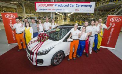 H Kia Motors κατασκεύασε 3.000.000 αυτοκίνητα στην Ευρώπη - Από το Δεκέμβριο του 2006 έχουν κατασκευαστεί στη Žilina της Σλοβακίας τρία εκατομμύρια αυτοκίνητα - Το επετειακό αυτοκίνητο είναι ένα λευκό Kia Cee'd που προορίζεται για έναν Ισλανδό πελάτη - Το 2017 το εργοστάσιο κατασκεύασε 335.600 αυτοκίνητα και 539.987 κινητήρες - Πρόκειται για τη βάση της παραγωγής της γκάμας του Kia Cee'd καθώς και των Sportage και Venga - Το εργοστάσιο της Žilina δημιούργησε άμεσα ή έμμεσα 184.386 θέσεις εργασίας Η Kia Motors κατασκεύασε το υπ' αριθμόν 3.000.000 αυτοκίνητό της από τότε που ξεκίνησε η παραγωγή στο εργοστάσιο της Žilina στη Σλοβακία το 2006. Το 3.000.000στό αυτοκίνητο που βγήκε από τη γραμμή παραγωγής είναι ένα Kia Cee'd. Πρόκειται για ένα λευκό πεντάθυρο hatchback με επίπεδο εξοπλισμού GT Line, που κατασκευάστηκε για έναν πελάτη στην Ισλανδία και ο κινητήρας του είναι ο 1.0 T-GDi (turbo gasoline-direct injection). Το 2017 η Kia Motors Slovakia κατασκεύασε 335.600 αυτοκίνητα και 539.987 κινητήρες που στη συνέχεια πουλήθηκαν σε περισσότερες από 80 χώρες του κόσμου. Ο πιο δημοφιλής κινητήρας πέρυσι ήταν ο diesel 1.7 CRDi (common-rail direct injection). Στη Žilina κατασκευάζονται τρία μοντέλα της ευρωπαϊκής γκάμας της Kia. Όλες οι εκδόσεις του δημοφιλούς Kia Cee'd (περιλαμβάνονται το πεντάθυρο hatchback Cee'd, το Sportswagon και το Pro_Cee'd), το best seller Kia Sportage και το μικρό MPV Kia Venga. Από τον Μάιο του 2013 η Kia Motors Slovakia κατασκευάζει τα πρώτα μοντέλα υψηλών επιδόσεων της μάρκας για την Ευρώπη: τα ισχυρά και ταχύτατα Cee'd GT και Pro_Cee'd GT. Συνολικά τα μοντέλα της Kia που κατασκευάζονται στην Ευρώπη αποτελούν σχεδόν το 50% των συνολικών πωλήσεων της μάρκας στην ευρωπαϊκή αγορά. Η ευρωπαϊκή βάση παραγωγής της Kia έχει δημιουργήσει ένα ιδιαίτερα ισχυρό όνομα ως κατασκευαστής αυτοκινήτων υψηλής ποιότητας με την κορυφαία στην αυτοκινητοβιομηχανία εγγύηση 7 ετών ή 150.000 χιλιομέτρων να πιστοποιεί στην ουσία την πολύ υψηλή ποιότητα κατασκευής. Μια εγγύη