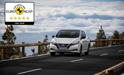 """Το νέο Nissan LEAF κατακτά την κορυφαία βαθμολογία των 5 αστέρων στην ασφάλεια του Euro NCAP. Αφού ψηφίστηκε ως """"Πράσινο"""" Αυτοκίνητο της Χρονιάς και έλαβε την υψηλότερη δυνατή βαθμολογία με πέντε αστέρια στην ασφάλεια, από το Πρόγραμμα Αξιολόγησης Νέων Αυτοκινήτων στην Ιαπωνία, τώρα έρχεται να προστεθεί στο """"χαρτοφυλάκιο"""" του νέου Nissan LEAF και η κορυφαία βαθμολογία των 5 αστέρων στις δοκιμές ασφαλείας του Euro NCAP. To πρώτο LEAF, το 2011, ήταν το πρώτο αμιγώς ηλεκτροκίνητο αυτοκίνητο που βαθμολογήθηκε με 5 αστέρια από τον ανεξάρτητο ευρωπαϊκό οργανισμό ασφάλειας Euro NCAP. Επτά χρόνια αργότερα, το νέο, δεύτερης γενιάς μοντέλο είχε την αντίστοιχη επιτυχία. Αξίζει να σημειωθεί ότι το νέο LEAF είναι το πρώτο αυτοκίνητο που δοκιμάστηκε από τον Euro NCAP σύμφωνα με τους νέους αυστηρότερους κανονισμούς του 2018. Για πρώτη φορά αξιολογήθηκε το σύστημα ανίχνευσης ποδηλατών, παράλληλα με άλλα σενάρια δοκιμών για αυτοκίνητα και πεζούς. Επιπλέον το νέο LEAF αξιολογήθηκε και σε συνθήκες με δοκιμή του συστήματος ανίχνευσης πεζών σε σκοτάδι, όπως και σε περιβάλλον χαμηλού φωτισμού, καθώς και ως προς την απόδοση του συστήματος διατήρησης στην λωρίδα κυκλοφορίας όταν το αυτοκίνητο κινείται στην άκρη του δρόμου, είτε υπάρχει σχετική διαγράμμιση, είτε όχι. Σύμφωνα με τον Euro NCAP, τα αναθεωρημένα κριτήρια αξιολόγησης των αυτοκινήτων είναι τα αυστηρότερα που έχουν εφαρμοστεί μέχρι σήμερα στην Ευρώπη. Τα αυτοκίνητα δοκιμάζονται και αξιολογούνται σε τέσσερις βασικούς τομείς: προστασία των ενήλικων επιβατών (οδηγού και συνοδηγού), προστασία των παιδιών (στα ειδικά καθίσματα), προστασία των """"ευάλωτων"""" πεζών, καθώς και στα βοηθητικά συστήματα ενεργητικής ασφάλειας. Στην προστασία των ενηλίκων επιβατών το νέο Nissan LEAF βαθμολογήθηκε με 93% και στην προστασία των παιδιών με 86%. Η βαθμολογία ασφαλείας προσδιορίζεται από μια σειρά δοκιμών που, με απλοποιημένο τρόπο, αντικατοπτρίζουν σημαντικά σενάρια ατυχημάτων της πραγματικής ζωής, τα οποία θα μπορούσαν να οδηγήσουν σε τραυματισμούς. """