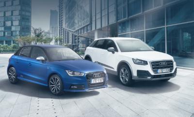 Νέες ειδικές εκδόσεις Audi • Η Audi παρουσιάζει ειδικές εκδόσεις με την ονομασία Limited, για τα Α1, Α3, Α4, Q2 και Q3 • Εκδόσεις με μοναδικό στυλ, ξεχωριστή προσωπικότητα και sport χαρακτήρα Με στόχο να προσδώσει ακόμα περισσότερο στυλ και sport χαρακτήρα στα μοντέλα της, η Audi παρουσιάζει τις εκδόσεις Limited. Με ιδιαίτερες επιλογές εξοπλισμού, μια σειρά από γνωστά μοντέλα της Audi αποκτούν πιο έντονη προσωπικότητα και ξεχωρίζουν ακόμα περισσότερο. Πιο αναλυτικά, τα μοντέλα και οι εκδόσεις έχουν ως εξής: Audi A1 Sportback Admired Style Limited Edition. Οι μοντέρνες εξωτερικές διαφοροποιήσεις και ο πλούσιος εξοπλισμός, προσδίδουν στη συγκεκριμένη έκδοση έναν πιο δυναμικό και sport χαρακτήρα. Διατίθεται είτε με τον 1.0 TFSI βενζινοκινητήρα των 1.000 κ.εκ. είτε με τον 1.6 TDI πετρελαιοκινητήρα των 1.600 κ.εκ. Η τιμή της έκδοσης ξεκινά από τις 20.990 € ενώ το συνολικό όφελος για τον πελάτη φτάνει τις 4.990 €. Ενδεικτικά, η ειδική αυτή έκδοση περιλαμβάνει εκτός άλλων: • Χυτές Audi Sport ζάντες αλουμινίου 7.5J x 17'', σε σχέδιο 10 ακτίνων, σε μαύρο ματ, γυαλισμένες, με ελαστικά 215/40 R 17 • Audi exclusive μαύρο γυαλιστερό διακοσμητικό πακέτο • Τόξο οροφής και οροφή βαμμένα σε απόχρωση με έντονη αντίθεση • Πίσω φωτιστικά σώματα τεχνολογίας LED • Διακοσμητικά καλύμματα αεραγωγών σε μαύρο γυαλιστερό • Sport δερμάτινο πολυλειτουργικό τιμόνι 3 ακτίνων • Πακέτο εσωτερικού φωτισμού LED • Πακέτο εξοπλισμού Connectivity, με Audi music interface & προετοιμασία για σύστημα πλοήγησης • Εξωτερικό πακέτο S Line • Ηχοσύστημα MMI Radio, με ενισχυτή 4-καναλιών με 8 ηχεία, έγχρωμη TFT οθόνη 6,5'' και λογική χειρισμού MMI • Πακέτο εξοπλισμού A1 Connect (περιλαμβάνει αυτόματο κλιματισμό, εμπρός παρμπρίζ με αντηλιακή λωρίδα προστασίας, αισθητήρα φωτός και βροχής, μονόχρωμη οθόνη ελέγχου βασικών λειτουργιών & υπολογιστή ταξιδίου, με σύστημα υπόδειξης οικονομικής οδήγησης) Audi A1 Sportback Active Style Limited Edition. Στην έκδοση αυτή οι λεπτομέρειες και τα παιχνιδίσματα σε κόκκινο ή λευκ