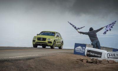 """H Bentley Bentayga σπάει το ρεκόρ των SUV στο Pikes Peak • H Bentley Bentayga κατέρριψε το ρεκόρ των SUV παραγωγής στο Pikes Peak • Ο Ρις Μίλλεν (Rhys Millen) ολοκλήρωσε τη διαδρομή σε 10΄ 49΄΄ 9 εκατοστά • Η πολύ κοντινή στην έκδοση δρόμου Bentayga W12 πέτυχε μέση ταχύτητα 106,4 χλμ./ώρα • Η Bentley Motors θα γιορτάσει την επίτευξη του ρεκόρ με μία ειδική, περιορισμένης παραγωγής έκδοση της Bentayga Η Bentley για άλλη μια φορά απέδειξε ότι είναι η μόνη αυτοκινητοβιομηχανία που μπορεί να συνδυάσει κορυφαία πολυτέλεια και συγκλονιστικές επιδόσεις. Μία Bentley Bentayga, με οδηγό τον Ρις Μίλλεν (Rhys Millen), δύο φορές πρωταθλητή της Formula D (πρωτάθλημα drifting) στις Η.Π.Α., ολοκλήρωσε την ανάβαση του Pikes Peak σε μόλις 10΄ 49΄΄ 9 εκατοστά. Η επίδοση αυτή, με μέση ταχύτητα 106,4 χλμ./ώρα, ήταν σχεδόν 2 λεπτά πιο γρήγορη σε σχέση με το προηγούμενο ρεκόρ,. Στα 1.440 μέτρα της υψομετρικής διαφοράς και στις συνολικά 156 στροφές της ανάβασης, η Bentayga αξιοποίησε πλήρως το μοναδικό συνδυασμό των 608 ίππων και των 900 Nm του W12 κινητήρα, της ενεργητικής πνευματικής ανάρτησής της, του ενεργητικού ελέγχου των κλίσεων του αμαξώματος με τη βοήθεια ηλεκτρικού κυκλώματος 48V και των φρένων της από κεραμικά υλικά και ανθρακονήματα ώστε να σημειώσει ένα νέο σημείο αναφοράς. Μιλώντας μετά την ολοκλήρωση της ανάβασής του ο Ρις Μίλλεν είπε: «Φανταστικό αυτοκίνητο! Το να πάρεις ένα υπερπολυτελές SUV με ελάχιστες τροποποιήσεις και να μπορείς να ολοκληρώσεις αυτήν την ανάβαση σε λιγότερα από 11 λεπτά είναι μια τεράστια απόδειξη για τις επιδόσεις και το επίπεδο της τεχνολογίας της Bentayga. Το αυτοκίνητο ήταν """"βιδωμένο"""" σε όλη τη διάρκειά της και μου δημιουργούσε την αίσθηση εμπιστοσύνης που χρειαζόμουν προκειμένου να πιέσω και άλλο». Σε σχέση με τις Bentayga παραγωγής είχαν γίνει ελάχιστες αλλαγές, για λόγους εναρμόνισης με τους κανονισμούς. Τα εμπρός καθίσματα είχαν αντικατασταθεί από άλλα αγωνιστικών προδιαγραφών, ενώ το πίσω κάθισμα είχε αφαιρεθεί. Ταυτόχρονα είχε τοποθετηθεί κλω"""