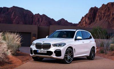 Τέταρτη γενιά της αρχαιότερης οικογένειας BMW X. Η Νέα BMW X5 ανοίγει το επόμενο κεφάλαιο στην επιτυχημένη ιστορία του ιδρυτή της κατηγορίας Sports Activity Vehicle (SAV), ενός μοντέλου που μέχρι τώρα έχει πουλήσει πάνω από 2,2 εκατομμύρια μονάδες. Νέα έκδοση της BMW X5 ετοιμάζεται για θεαματική είσοδο στην αυτοκινητιστική σκηνή, με 'καθαρή' σχεδίαση, υψηλά επίπεδα άνεσης, σπορ χαρακτήρα, αναμφισβήτητο κύρος και ασφαλώς καινοτόμο εξοπλισμό. Παραγωγή στο Εργοστάσιο της BMW στο Spartanburg (ΗΠΑ). Λανσάρισμα το Νοέμβριο του 2018. Αισθητά μεγαλύτερη από την προκάτοχό της: κατά 36 mm σε μήκος (4.922 mm), κατά 66 mm σε πλάτος (2.004 mm) και κατά 19 mm σε ύψος (1.745 mm). Μεταξόνιο μακρύτερο κατά 42 mm, στα 2.975 mm. Το εξωτερικό υιοθετεί μία στιβαρή και σαφή σχεδιαστική γλώσσα που εγκαινιάζεται για τα μοντέλα BMW X. Δυναμικές, ανάγλυφες επιφάνειες, ακριβείς γραμμές. Μεγάλη μάσκα BMW με μονοκόμματο πλαίσιο, εντυπωσιακή χαρακτηριστική γραμμή και δυναμική γραμμή οροφής, τρισδιάστατα πίσω φώτα. Το εσωτερικό αποπνέει φινέτσα και σύγχρονη αύρα χάρη στα προηγμένα υλικά, την αρμονική σχεδίαση και την καινοτόμο φιλοσοφία ελέγχου. Διακριτική εξατομίκευση με τις σειρές BMW xLine και M Sport, και αποκλειστικά χαρακτηριστικά από την BMW Individual. BMW Laserlight με Adaptive LED Headlights διατίθενται προαιρετικά. Οι προβολείς έχουν εντυπωσιακή σχεδίαση. Οι φακοί εκτείνονται σε σχήμα Χ, με μπλε απόχρωση BMW Laserlight ως στοιχείο ταυτότητας. Το πρώτο μοντέλο BMW με ζάντες αλουμινίου 22-ιντσών (προαιρετικά). Ζάντες ελαφρού κράματος αλουμινίου M δύο ακτίνων και BMW Individual διατίθενται από το λανσάρισμα σε αυτή τη διάσταση. Λανσάρισμα της νέας BMW X5 με τέσσερις εκδόσεις κινητήρων: Νέος V8 βενζινοκινητήρας με 340 kW/462 hp στην BMW X5 xDrive50i (δεν διατίθεται στην Ευρώπη), εξακύλινδρος εν σειρά βενζινοκινητήρας με 250 kW/340 hp στην BMW X5 xDrive40i (κατανάλωση μικτού κύκλου: 8,8 – 8,5 l/100 km, Εκπομπές CO2 στο μικτό κύκλο: 200 – 193 g/km)* και δύο εξακύλινδροι εν σειρά κινητήρες di