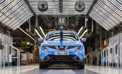 """Το εκατομμυριοστό JUKE, εξήλθε της παραγωγής από το το εργοστάσιο της Nissan στο Sunderland. Οκτώ χρόνια μετά τη δημιουργία της κατηγορίας των compact crossover, το εκατομμυριοστό JUKE βγήκε από την γραμμή παραγωγής στο εργοστάσιο της Nissan στο Sunderland. Κατά μέσο όρο, στο συγκεκριμένο εργοστάσιο, ένα ολοκαίνουργιο JUKE κατασκευάζεται κάθε 105 δευτερόλεπτα ! Γνωστό για το ιδιαίτερο σπορ στυλ του, το JUKE διαθέτει πολλές εσωτερικές και εξωτερικές επιλογές εξατομίκευσης. Χάρη σε όλες αυτές τις επιλογές και τους πιθανούς συνδυασμούς εξατομίκευσης, περισσότερες από 23.000 διαφορετικές εκδοχές του τελευταίου JUKE, είναι διαθέσιμες για τους εν δυνάμει αγοραστές του. Το εκατομμυριοστό JUKE που κατασκευάστηκε στο Sunderland είναι έκδοσης Techna σε χρώμα Vivid Blue. Στιγμιότυπα από την γραμμή παραγωγής του μοντέλου μπορείτε να δείτε στο https://youtu.be/C4OSmQpqocA Ο Kevin Fitzpatrick, Ανώτερος Αντιπρόεδρος Παραγωγής, Διαχείρισης και Αγορών στην Εφοδιαστική Αλυσίδα της Nissan Europe, δήλωσε: """"Η επίτευξη του ορόσημου του ενός εκατομμυριοστού, είναι ένα φανταστικό επίτευγμα για οποιοδήποτε μοντέλο. Πριν από οκτώ χρόνια δεν είχαμε δει ποτέ κάτι παρόμοιο με το JUKE. Το μοντέλο αυτό, δημιούργησε μια εντελώς νέα κατηγορία και έφερε έναν ξεχωριστό σχεδιασμό που όμοιό του δεν είχαμε δει μέχρι τότε στην αγορά. Κάνοντας μια γρήγορη αναδρομή, φτάνουμε σήμερα να έχουμε ένα εκατομμύριο πελάτες, με το JUKE να παραμένει ο κυρίαρχος της αγοράς."""" Το JUKE είναι το δεύτερο crossover που κατασκευάζεται στο εργοστάσιο του Sunderland, ακολουθώντας τo πρωτοποριακό Qashqai, που μπήκε σε παραγωγή το 2006 και έμελε να βάλει τα θεμέλια για την κυριαρχία της Nissan στην αγορά των crossover. Περισσότεροι από τρία εκατομμύρια Qashqai έχουν κατασκευαστεί μέχρι τώρα στο Sunderland, με τα Micra (2.4εκ.) και Primera (1.5εκ), να ακολουθούν ως τα μοντέλα που """"χτύπησαν"""" επταψήφιο αριθμό στην παραγωγή του εργοστασίου. Στο ορόσημο του ενός εκατομμυρίου περιλαμβάνεται και η premium έκδοση του JUKE NISMO, η οποί"""