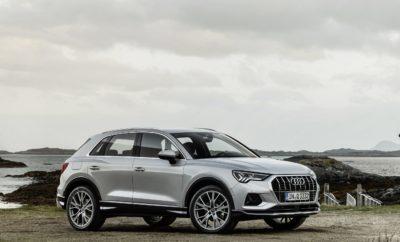 Νέο Audi Q3: το best-seller premium SUV επιστρέφει! • Σπορ αίσθηση, μεγαλύτερες διαστάσεις, περισσότερη άνεση, κορυφαία χρηστικότητα και ασφάλεια • Ψηφιακός πίνακας οργάνων, οθόνη αφής ΜΜΙ, υποδειγματική συνδεσιμότητα • Κορυφαίο σύστημα τετρακίνησης quattro Στη δεύτερη πλέον γενιά του, το νέο Audi Q3 επιστρέφει πιο εντυπωσιακό και ολοκληρωμένο από ποτέ! Δεν είναι μόνο η εξωτερική εμφάνιση, αλλά το συνολικό πακέτο, που ενθουσιάζει. Με συστήματα και λειτουργίες από μεγαλύτερες κατηγορίες, στην υπηρεσία του οδηγού όταν παρκάρει, όταν κινείται στην πόλη ή ταξειδεύει στον αυτοκινητόδρομο. Με σύστημα τετρακίνησης quattro για τις εκτός δρόμου αποδράσεις. Με εξαιρετική χρηστικότητα χάρη στους μεγάλους χώρους και τις αμέτρητες πρακτικές διευκολύνσεις. Όπως και τα κορυφαία μοντέλα της Audi, το νέο Q3 διαθέτει ψηφιακό κόκπιτ και ένα προηγμένο σύστημα MMI με οθόνη αφής, ενώ μοναδικά είναι τα επίπεδα άνεσης που προσφέρει, χάρη στην εξελιγμένη ανάρτηση. Η εξωτερική σχεδίαση - Το νέο Audi Q3 δείχνει και είναι πολύ πιο σπορ από τον προκάτοχό του. Εμπρός, την ταυτότητα καθορίζουν το οκτάγωνο μοτίβο της μάσκας Singleframe με τις μεγάλες εισαγωγές αέρα και οι στενοί προβολείς με τεχνολογία LED. Η κορυφαία έκδοση διαθέτει προβολείς Matrix LED με έξυπνη προσαρμογή της φωτεινής δέσμης στις συνθήκες του δρόμου. Στο πλάι, σημαντικά είναι τα γραφικά φωτισμού καθώς και το αποτύπωμα των προβολέων και των πίσω φωτιστικών σωμάτων. Τα περιγράμματα είναι εμπνευσμένα από το quattro DNΑ της Audi και κάνουν το SUV να φαίνεται ακόμη πιο φαρδύ με τα διαφορετικού χρώματος τόξα να δημιουργούν μία έντονη off-road αντίθεση. Μεγάλο και προσαρμόσιμο: η έννοια του χώρου - Το νέο Audi Q3, βασισμένο στη μεταβλητή πλατφόρμα του Group, έχει μεγαλώσει σχεδόν σε όλες του τις διαστάσεις και είναι από τα μεγαλύτερα στην κατηγορία του. Το μήκος του φτάνει τα 4.485 χιλιοστά και είναι 97 χλστ. πιο μακρύ από το απερχόμενο μοντέλο. Το πλάτος έχει αυξηθεί κατά 25 χλστ. και φτάνει τα 1.856 χλστ. συνολικά, αλλά με ύψος 1.58