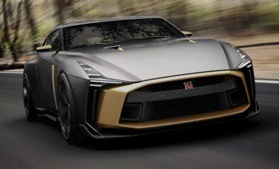 """Το μοναδικό Nissan GT-R50 από την Italdesign, πανέτοιμο για το παγκόσμιο ντεμπούτο του στο Goodwood. Το Nissan GT-R50 της Italdesign, θα πραγματοποιήσει το παγκόσμιο ντεμπούτο του στο Φεστιβάλ Ταχύτητας του Goodwood, στο Chichester της Αγγλίας, στις 12 Ιουλίου. Το πρωτότυπο GT-R50 που θα παρουσιαστεί στο Goodwood, προϊόν της πρώτης συνεργασίας μεταξύ της Nissan και της Italdesign, θα μπορούσε να αποτελέσει το προσχέδιο για μια εξαιρετικά περιορισμένη σειρά χειροποίητων αυτοκινήτων παραγωγής. Το συγκεκριμένο πρωτότυπο δημιουργήθηκε με αφορμή την 50η επέτειο τόσο του GT-R για το 2019, όσο και της Italdesign για το 2018. """"Το Φεστιβάλ Ταχύτητας του Goodwood, είναι το ιδανικό σκηνικό για την παρουσίαση του Nissan GT-R50 από την Italdesign, το οποίο συνδυάζει αρμονικά τη δύναμη με την τέχνη, για να γιορτάσει 50 χρόνια εμπνευσμένα από τα όνειρα των πελατών μας"""", δήλωσε ο Alfonso Albaisa, ανώτερος αντιπρόεδρος παγκόσμιου σχεδίου της Nissan. """"Όπως και το ίδιο το πρωτότυπο, το Goodwood είναι μια γιορτή του σχεδιασμού, των επιδόσεων και της αγάπης για τη δημιουργικότητα της παρελθούσας και μελλοντικής αυτοκινητοβιομηχανίας. Είναι το τέλειο σκηνικό για να παρουσιαστεί ένα μοναδικό όχημα που θα προκαλέσει τη φαντασία των ανθρώπων για μεγαλύτερα όνειρα."""" Εν αναμονή του GT-R50 της Italdesign στο Goodwood και των επόμενων εμφανίσεών του ανά την Υφήλιο τους ερχόμενους μήνες, μια έκδοση παραγωγής εμπνευσμένη από το πρωτότυπο, δύναται να δημιουργηθεί. Στην περίπτωση αυτή, η Italdesign δεν θα κατασκευάσει πάνω από 50 μονάδες, όπου κάθε αυτοκίνητο θα είναι προσαρμοσμένο στις απαιτήσεις του κάθε αγοραστή, με μια τιμή που υπολογίζεται ότι θα ξεκινάει από τις 900.000 ευρώ περίπου. Ξεκινώντας από μπροστά, το Nissan GT-R50 της Italdesign διαθέτει ένα ξεχωριστό χρυσό εσωτερικό στοιχείο που εκτείνεται σε όλο σχεδόν το πλάτος του οχήματος. Το καπό είναι εμφανώς διογκωμένο τονίζοντας την ισχύ του αυτοκινήτου, ενώ οι λεπτοί προβολείς LED εκτείνονται από τους θόλους των τροχών, μέχρι το χείλος πάν"""