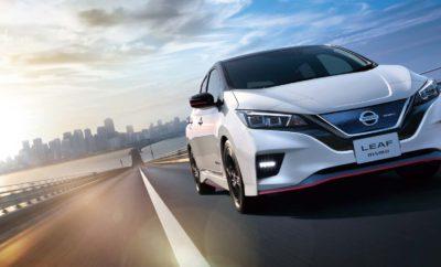 """Παγκόσμιο ντεμπούτο για το Nissan LEAF NISMO. Το Nissan LEAF NISMO θα αρχίσει να πωλείται από τις 31 Ιουλίου στην Ιαπωνία, συνδυάζοντας για πρώτη φορά, τον ενθουσιασμό και τις προηγμένες τεχνολογίες του παγκοσμίως κορυφαίου σε πωλήσεις αμιγώς ηλεκτροκίνητου αυτοκινήτου, με την σπορ εικόνα και την απόδοση που προσφέρει η NISMO. Το Nissan LEAF NISMO διαθέτει έναν ειδικά τροποποιημένο υπολογιστή για πιο γρήγορη επιτάχυνση, ειδικά ελαστικά και ανάρτηση για βελτιωμένο χειρισμό και οδηγική άνεση, καθώς και κομψό εξωτερικό και εσωτερικό σχεδιασμό. Το μοντέλο βασίζεται στο νέο Nissan LEAF, το οποίο έκανε το ντεμπούτο του τον περασμένο Οκτώβριο. Το νέο LEAF προσφέρει τη συναρπαστική επιτάχυνση σε συνδυασμό με τις περιβαλλοντικές επιδόσεις ενός ηλεκτροκινητήρα, δυναμική σχεδίαση, αλλά και προηγμένες τεχνολογίες όπως το e-Pedal, το ProPILOT και το ProPILOT Park. Το νέο Nissan LEAF αποτελεί την """"ενσάρκωση"""" του Nissan Intelligent Mobility, του οράματος της εταιρείας για την αλλαγή του τρόπου με τον οποίο τα αυτοκίνητα τροφοδοτούνται, οδηγούνται και ενσωματώνονται στην κοινωνία. Το αμιγώς ηλεκτροκίνητο μοντέλο έχει κερδίσει πολλά βραβεία για την πρωτοποριακή τεχνολογία και τις επιδόσεις του. Κέρδισε το βραβείο """"Παγκόσμιο Πράσινο Αυτοκίνητο 2018"""" στο Διεθνές Σαλόνι Αυτοκινήτου της Νέας Υόρκης και έλαβε βαθμολογίες ασφάλειας 5 αστέρων, τόσο από το Ευρωπαϊκό Πρόγραμμα Αξιολόγησης Νέων Αυτοκινήτων (Euro NCAP), όσο και από το Πρόγραμμα Αξιολόγησης Νέων Αυτοκινήτων της Ιαπωνίας. Η Nissan σκοπεύει να πουλήσει 1 εκατομμύριο ηλεκτροκίνητα οχήματα ετησίως, συμπεριλαμβανομένου του νέου Nissan LEAF, σε παγκόσμια κλίμακα, από το οικονομικό έτος 2022. Εξωτερική σχεδίαση Το Nissan LEAF NISMO διαθέτει τα χαρακτηριστικά διπλά αεροβοηθήματα της σειράς NISMO, που βελτιώνουν την άντωση, χωρίς να επηρεάζουν το συντελεστή οπισθέλκουσας. Σηματοδοτώντας την οδήγηση υψηλών επιδόσεων που προσφέρει το χαμηλό κέντρο βάρους, το μοντέλο διαθέτει ειδικής κατασκευής ζάντες αλουμινίου 18 ιντσών, που ελαχιστοποιο"""