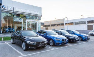 Από την 1η Οκτωβρίου του 2018, η Servin Κρήτης Α.Ε. προχώρησε σε επέκταση των επιχειρηματικών δραστηριοτήτων της αναλαμβάνοντας ως Επίσημος Έμπορος την πώληση αυτοκινήτων BMW, BMW i και ΜΙΝΙ στα Χανιά. Τα επίσημα εγκαίνια της σύγχρονης έκθεσης πραγματοποιούνται την Τετάρτη, 24 Οκτωβρίου στις 18:00 για το κοινό με μοναδικές ευκαιρίες για test drives με όλα τα μοντέλα BMW, BMW i και ΜΙΝΙ καθώς και με εκπλήξεις, δώρα και διαγωνισμούς για τους παρευρισκόμενους. Η εταιρία ανήκει στο Δίκτυο των Επίσημων Εμπόρων του BMW Group Hellas και δραστηριοποιείται από το 1977 στο Ηράκλειο Κρήτης. Με πολυετή εμπειρία στην αγορά και πώληση αυτοκινήτων με άρτια καταρτισμένο προσωπικό, η Servin Κρήτης Α.Ε. παρέχει υψηλής ποιότητας υπηρεσίες επισκευής και συντήρησης με τις πλέον καινοτόμες διαγνωστικές τεχνολογίες του BMW Group. Στοιχεία Επικοινωνίας: Servin Κρήτης Α.Ε. Τηλέφωνο: 28210 - 02095 Διεύθυνση: Λεωφόρος Καραμανλή 78, Χανιά Τ.Κ. 73300