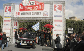 Η Ακρόπολη, η Αθήνα και η Ελλάδα επέστρεψαν μετά από σχεδόν μισό αιώνα στο «κάδρο» ενός εκ των διασημότερων Ράλλυ του κόσμου, του -Ιστορικού, αυτή τη φορά- Ράλλυ Μόντε Κάρλο, με την εκκίνηση 24 εκ των πληρωμάτων του φετινού 22ου Rallye Monte-Carlo Historique κάτω από τον Παρθενώνα. [Φωτογραφίες: Τάσος Αρωνίτης] Η Αθήνα, όπως και το Μιλάνο της Ιταλίας, είναι οι νέες πόλεις του φιλοξενούν φέτος την εκκίνηση του πλέον διακεκριμένου αγώνα Regularity Rally Ιστορικών αυτοκινήτων. Ήδη σήμερα δόθηκε η εκκίνηση και των αγωνιζόμενων που επέλεξαν τη Γλασκώβη της Σκοτίας, ενώ αύριο (1/02) θα εκκινήσουν οι υπόλοιποι από το Μπαντ Χόμπουργκ της Γερμανίας, από τη Βαρκελώνη της Ισπανίας, από τη Ρεμς της Γαλλίας , από το Μιλάνο και από το Μόντε Κάρλο.