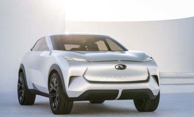 """Το QX Inspiration concept, αποτελεί την """"απεικόνιση"""" ενός ηλεκτροκίνητου INFINITI για το μέλλον, συνδυάζοντας ένα ηλεκτροκίνητο σύστημα κίνησης σε όλους τους τροχούς, με το πλαίσιο ενός SUV και εισάγοντας μια νέα γλώσσα σχεδιασμού της INFINITI, για την εποχή της ηλεκτροκίνησης. Το INFINITI QX Inspiration είναι ένα μεσαίου μεγέθους πρωτότυπο SUV, που ενσαρκώνει το πρώτο αμιγώς ηλεκτροκίνητο όχημα της μάρκας. Για την INFINITI, η ηλεκτροκίνηση αποτελεί το φυσικό επόμενο βήμα, έχοντας δείξει καινοτομίες τόσο σε τεχνολογία, όσο και σε κινητήρια σύνολα. Αυτή η σχεδιαστική μελέτη, δίνει μια γεύση από το πλάνο της μάρκας για τη διάθεση μια σειράς ηλεκτροκίνητων οχημάτων υψηλών επιδόσεων, που υπόσχονται συναρπαστική οδήγηση και αυτοπεποίθηση στην εμβέλεια. Η μελλοντική γκάμα της INFINITI, θα αποτελείται από μια σειρά ηλεκτροκίνητων, e-POWER και υψηλής απόδοσης υβριδικών οχημάτων. Το QX Inspiration concept, σηματοδοτεί μια νέα εποχή για το σχεδιασμό στην INFINIT,I που εκμεταλλεύεται την τεχνολογία και με μια σχεδιαστική γλώσσα που αναδυκνείει τη δύναμη και τον χαρακτήρα των ηλεκτροκινητήρων. Το νέο πρωτότυπο θέτει ένα άμεσο προηγούμενο για το πρώτο αμιγώς ηλεκτροκίνητο αυτοκίνητο παραγωγής της εταιρείας, απεικονίζοντας τον τρόπο με τον οποίο οι νέες αρχιτεκτονικές και τεχνολογίες, επηρεάζουν το σύγχρονο σχεδιασμό της INFINITI. Επίσης, βασίζεται στην Ιαπωνική χωροταξική αντίληψη του """"Ma"""", αποδεικνύοντας πως οι ανοιχτοί χώροι μεταξύ των γραμμών δημιουργούν ένταση και προσδοκίες. Χωρίς την ανάγκη για μια μεγάλη μπροστινή γρίλια για την ψύξη ενός κινητήρα, το QX Inspiration concept, διατηρεί παρόλα αυτά εκείνα τα σχήματα που θα υπήρχαν για την εισαγωγή του αέρα. Οι λεπτές επιφάνειες που αντικαθιστούν τη γρίλια, διαθέτουν ένα φωτισμένο λογότυπο της INFINITI, περικλειόμενο από κανάλια που εκτρέπουν αέρα πάνω και γύρω από το σώμα του αμαξώματος. Μια πιο προσεκτική ματιά στις λωρίδες των λεπτών προβολέων αποκαλύπτει σχέδια, χαραγμένα με λέιζερ, με μια ιδιαίτερη τεχνική που """"αντηχεί"""" """