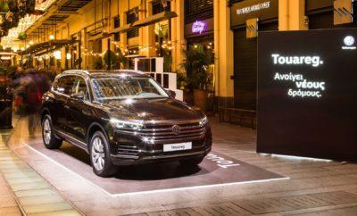 Το νέο Volkswagen Touareg στο Attica-City Link Το νέο Volkswagen Touareg καλωσόρισε τη νέα χρονιά με έναν πολύ ξεχωριστό τρόπο. Η ναυαρχίδα της μάρκας, συμμετείχε στο εορταστικό κλίμα των προηγούμενων ημερών δίνοντας το παρών στο εμπορικό κέντρο Attica-City Link, στην καρδιά της Αθήνας. Μάλιστα, το Touareg θα παραμείνει στη Στοά Σπυρομήλιου μέχρι και την Τετάρτη 16 Ιανουαρίου, δίνοντας την ευκαιρία στους επισκέπτες να γνωρίσουν από κοντά το πολυτελέστερο και τεχνολογικά πιο προηγμένο SUV που έχει κατασκευάσει ποτέ η Volkswagen! To εντυπωσιακό Touareg κάθε άλλο παρά πέρασε απαρατήρητο στο συγκεκριμένο χώρο. Σε ένα από τα πλέον παραδοσιακά «περάσματα» της εμπορικής, καλλιτεχνικής και πνευματικής Αθήνας, το μεγάλο SUV κυριάρχησε με την ιδιαίτερα επιβλητική του παρουσία. Πολύς κόσμος έκανε ένα διάλειμμα από τα εορταστικά ψώνια ή τη διασκέδαση που προσφέρει μία βόλτα στο κέντρο αυτές τις μέρες και είχε την ευκαιρία να γνωρίσει από κοντά το νέο μοντέλο. Το design του Touareg, τόσο στο εξωτερικό όσο και στο εσωτερικό, το Innovision Cockpit, ο συνδυασμός δηλαδή πλήρως ψηφιακού πίνακα οργάνων (οθόνη 12΄΄) με το κορυφαίο σύστημα infotainment Discover Premium (οθόνη 15΄΄), το οποίο προσφέρει όλες τις λειτουργίες πληροφόρησης, επικοινωνίας και χειρισμού, καταργώντας ουσιαστικά τα συμβατικά πλήκτρα και τους διακόπτες, οι άφθονοι χώροι αλλά και η γενικότερη, premium αύρα του μοντέλου ήταν τα βασικά στοιχεία που εντυπωσίασαν και σχολιάστηκαν υπερθετικά. Το νέο Touareg διατίθεται ήδη στην ελληνική αγορά, σε πρώτη φάση με τον τρίλιτρο V6 πετρελαιοκινητήρα. Σε δύο εκδόσεις, με 231 και 286 ίππους, σε πολύ πλούσιο επίπεδο εξοπλισμού, με προτεινόμενες τιμές λιανικής 77.700 € και 84.000 € αντίστοιχα. Στο Attica-City Link, θα βρίσκεται μέχρι και την Τετάρτη 16 Ιανουαρίου ενώ οι ενδιαφερόμενοι μπορούν να το δουν από κοντά και στο δίκτυο επίσημων εμπόρων και εμπορικών αντιπροσώπων της Kosmocar-Volkswagen.