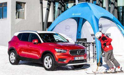 Το Volvo XC40 παρουσιάζει τη σκληροτράχηλη πλευρά του εαυτού του στο χιονοδρομικό κέντρο Παρνασσού Για πρώτη φορά ένα αυτοκίνητο καταφέρνει να φτάσει τόσο ψηλά, στα 1.750 μέτρα Το Compact SUV της Volvo θα βρίσκεται στα Kελάρια έως την Κυριακή, 6 Ιανουαρίου 2019 Το Compact SUV της Volvo θα βρίσκεται μέχρι την Κυριακή, 6 Ιανουαρίου, έξω από το σαλέ του χιονοδρομικού κέντρου στα Kελάρια, σε υψόμετρο 1.750 μέτρων. Τοποθετημένο σε περίοπτη θέση, το XC40 ταιριάζει αρμονικά με το αλπικό τοπίο, καθώς το σύγχρονο, πρωτότυπο design του αποτυπώνει τη διάθεση για εξερεύνηση και ψυχαγωγία σε ένα περιβάλλον που αποτελεί το στοιχείο του. ''Εκεί που οι άλλοι δοκιμάζουν είναι το σπίτι μας'': το κεντρικό μήνυμα της παρουσίας του XC40 συμπυκνώνει το χαρακτήρα του premium SUV της Volvo. Στο DNA του, το XC40 ενσωματώνει την παραδοσιακή αξιοπιστία της Volvo, αλλά και τις πρωτοποριακές τεχνολογίες και όλη την τεχνογνωσία της σουηδικής εταιρείας στα συστήματα τετρακίνησης. Στις AWD εκδόσεις του, με κινητήρες diesel D3 και D4 και με τον βενζινοκινητήρα T5, το XC40 συνδυάζει την ευελιξία του αστικού SUV με εξαιρετικές ικανότητες κίνησης σε απαιτητικά περιβάλλοντα. Η σουηδική εμπειρία κίνησης σε συνθήκες χιονιού και πάγου καθιστά το XC40 την προφανή επιλογή για όποιον θέλει ένα SUV ικανό να αντεπεξέρχεται στα δύσκολα.