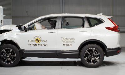 Το νέο Honda CR-V απέσπασε πέντε αστέρια στις τελευταίες δοκιμές του οργανισμού αξιολόγησης ασφάλειας Euro NCAP. Το CR-V διαθέτει μοναδική δομή αμαξώματος που του παρέχει κορυφαία αντοχή και ακαμψία και μία ολοκληρωμένη σειρά τεχνολογιών ενεργητικής ασφάλειας. Σχεδιασμένη για να προσφέρει ασφάλεια σε συγκρούσεις απ' όλες τις κατευθύνσεις ('All Directions Collision Safety'), η πλατφόρμα ενσωματώνει την αποκλειστική, επόμενη γενιά δομής αμαξώματος ACE™ (Advanced Compatibility Engineering) της Honda. Η δομή αυτή χρησιμοποιεί ένα δίκτυο συνδεδεμένων στοιχείων με σκοπό την ομοιόμορφη κατανομή της ενέργειας πρόσκρουσης, μειώνοντας τις δυνάμεις που μεταφέρονται στον κλωβό επιβατών διασφαλίζοντας εξαιρετική αντοχή σε εμπρόσθιες, πλευρικές και οπίσθιες συγκρούσεις. Στα χαρακτηριστικά παθητικής ασφάλειας του νέου CR-V προστίθεται μία σειρά τεχνολογιών ενεργητικής ασφάλειας και υποστήριξης οδηγού Honda Sensing™. Το πακέτο τεχνολογιών Honda Sensing™ θεωρείται από τα πιο ολοκληρωμένα στην κατηγορία του. Χρησιμοποιεί ένα συνδυασμό πληροφοριών από ραντάρ και κάμερες και αισθητήρες υψηλής τεχνολογίας για να προειδοποιεί και να υποστηρίζει τον οδηγό σε κρίσιμες καταστάσεις. Το νέο Honda CR-V πλαισιώνει την υπόλοιπη γκάμα μοντέλων πέντε αστέρων Euro NCAP της Honda που περιλαμβάνει τα Jazz, HR-V και Civic.