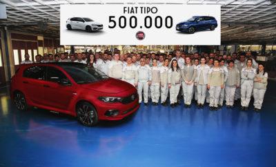 Το δημοφιλές μοντέλο της Fiat, σε λιγότερο από 3 χρόνια από την παρουσίαση του, ξεπέρασε τις 500.000 μονάδες, αποτελώντας ακόμα μια μεγάλη εμπορική επιτυχία για την εταιρεία. Ένα 5θυρο Tipo ήταν το όχημα με το οποίο η οικογένεια του μοντέλου έφτασε τις 500.000 μονάδες. Το συγκεκριμένο όχημα είναι εφοδιασμένο με το πακέτο Sport της Mopar που περιλαμβάνει ακόμα πιο δυναμικούς προφυλακτήρες, πίσω αεροτομή καθώς και διαχύτη στον πίσω προφυλακτήρα. Το Fiat Tipo είναι διαθέσιμο σε 5θυρες (Hatchback), 4θυρες (Sedan) και Sation Wagon εκδόσεις με πλήρη γκάμα κινητήρων και επιπέδων εξοπλισμού. Το Fiat Tipo είναι ο ηγέτης στην κατηγορία του στην Ιταλία, βρίσκεται στο top 10 σε 4 Ευρωπαϊκές αγορές, ενώ με το 70% των πωλήσεων να γίνονται εκτός Ιταλίας είναι, μετά το 500, το 2ο πιο παγκόσμιο αυτοκίνητο στην γκάμα της εταιρείας. Το Fiat Tipo με τον αριθμό 500.000 πέρασε σήμερα την γραμμή παραγωγής. Το αυτοκίνητο με το οποίο η οικογένεια Tipo έφτασε αυτό το σημαντικό ορόσημο είναι ένα κόκκινο 5θυρο Tipo 1.6 Multijet 120 ίππων με αυτόματο κιβώτιο διπλού συμπλέκτη DCT και το σπορ πακέτο της Mopar. Αποτελώντας το δημοφιλέστερο μοντέλο στην κατηγορία του στην Ιταλία και εξαιρετικά δημοφιλές σε πολλές Ευρωπαϊκές αγορές, το Tipo αποτελεί μία ακόμα εμπορική επιτυχία για τη Fiat. Οι συνολικές πωλήσεις της παρούσας γενιάς, μαζί με εκείνες του πρώτου Tipo που παρουσιάστηκε το 1988, ξεπερνούν τα 2.100.000 μονάδες. Μέσα σε αυτά τα 30 χρόνια οι αριθμοί αποδεικνύουν την εκτίμηση που τρέφει το κοινό στη δυνατότητα της Fiat να προσφέρει μοντέλα που ξεχωρίζουν για την άνεση, ευρυχωρία, αλλά και τον εξοπλισμό που προσφέρουν σε ιδιαίτερα προσιτές τιμές. Η νέα γενιά του Tipo, είναι διαθέσιμη σε τρία αμαξώματα (5θυρο, sedan και station wagon), με μία ευρεία γκάμα κινητήρων και επιπέδων εξοπλισμού να ικανοποιούν κάθε ανάγκη. Το ευρύχωρο εσωτερικό σε συνδυασμό με τον εξωτερικό σχεδιασμό, τον πλούσιο εξοπλισμό αλλά και το εξαιρετικό value for money, καθιστούν το Tipo, όχι μόνο ένα εξαιρετικά ικανό μικρομε