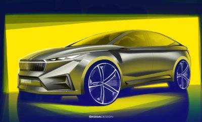 • Πρώτα σκίτσα ενός concept ηλεκτρικού μοντέλου της SKODA που θα παρουσιαστεί στη Γενεύη • Coupé, δυναμικές γραμμές πάνω στη μεταβλητή πλατφόρμα ηλεκτρικών οχημάτων (MEB) • Έως τα τέλη του 2022 η SKODA θα παρουσιάσει περισσότερα από 10 νέα ηλεκτρικά μοντέλα • Τα επόμενα 4 χρόνια η SKODA επενδύει περισσότερα από 2 δισεκατομμύρια ευρώ σε εναλλακτικά κινητήρια συστήματα και νέες υπηρεσίες κινητικότητας Η SKODA θα παρουσιάσει στο επερχόμενο Σαλόνι Αυτοκινήτου της Γενεύης (5-17 Μαρτίου) το πρωτότυπο SKODA VISION iV, το επόμενο βήμα της μάρκας προς την ηλεκτροκίνηση. Μέσα από τα δύο πρώτα σκίτσα που δίδονται σήμερα στη δημοσιότητα, η SKODA δίνει μία γεύση του πρώτου της μοντέλου που θα βασίζεται στη μεταβλητή πλατφόρμα MEB (Modular Electric Drive Kit) για εξέλιξη και κατασκευή ηλεκτρικών οχημάτων. Το SKODA VISION iV, ένα τετράθυρο crossover με coupé στυλ, έχει έντονα σπορ, δυναμική σιλουέτα, που τονίζεται από τους αεροδυναμικά μελετημένους τροχούς 22 ιντσών και την έντονη κλίση της οροφής στο πίσω μέρος. Μια χαρακτηριστική σχεδιαστική γραμμή γεφυρώνει νοητά το μπροστινό με το πίσω μέρος, προσδίδοντας έμφαση στις καθαρές επιφάνειες και στις δίχως λαβές πόρτες. Παράλληλα, οι συμβατικοί εξωτερικοί καθρέπτες έχουν αντικατασταθεί από κάμερες των οποίων το περίβλημα παραπέμπει σχηματικά σε πτερύγια καρχαρία. Το εμπρός μέρος χαρακτηρίζεται από μια νέα εκδοχή της τυπικής επιβλητικής μάσκας της SKODA, με λεπτές κάθετες νευρώσεις και κρυσταλλική δομή, ενώ μία οριζόντια φωτεινή λωρίδα στο πάνω μέρος και οι εντυπωσιακά μεγάλες εισαγωγές αέρα υπογραμμίζουν τη σπορ εμφάνιση. Το δυναμικό πίσω μέρος ξεχωρίζει από τις ανάγλυφες ακμές που συμβάλλουν στην αεροδυναμική και τα διάφανα πίσω φώτα LED. Τα τελευταία, είναι αυτά που επαναπροσδιορίζουν το τυπικό C-σχήματος φωτεινό αποτύπωμα τονίζοντας το πλάτος τού αμαξώματος σε συνδυασμό με μία φωτεινή λωρίδα πάνω από τον διαχύτη. Το λογότυπο SKODA στο πίσω μέρος εμφανίζεται ολογράφως και με τα γράμματα να φωτίζονται σε κόκκινο χρώμα. To 2019 είνα