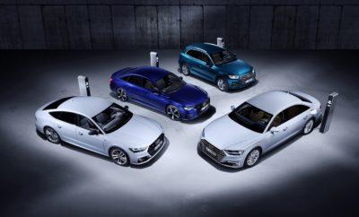 Η Audi παρουσιάζει plug-in υβριδικές εκδόσεις