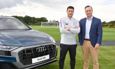 """• Audi και Τότεναμ σε χορηγική συνεργασία με την premium μάρκα να παρέχει πολυτελή μοντέλα στους αστέρες της ιστορικής λονδρέζικης ποδοσφαιρικής ομάδας • Q8 και e-tron ανάμεσα στις επιλογές των παικτών της ομάδας • H Audi έχει συνδεθεί κατά καιρούς με μεγάλα ποδοσφαιρικά clubs της Ευρώπης, όπως η Μπάγερν Μονάχου, η Ρεάλ και η Μπαρτσελόνα • Η Τότεναμ βρίσκεται σε μία από τις καλύτερες περιόδους της ιστορίας της, με επιτυχίες τόσο εντός γηπέδου όσο και στην υποστήριξη της τοπικής κοινωνίας του Βόρειου Λονδίνου • Η Audi έβγαλε ένα απολαυστικό video με τους αστέρες της ομάδας Ντέλε, Έρικσεν, Σάνσεθ και Μούρα για να επικοινωνήσει τη συνεργασία: http://bit.ly/AUDI_and_TOTTENHAM Η Audi είναι επίσημος χορηγός της Τότεναμ, της διάσημης ποδοσφαιρικής ομάδας, με τους παίκτες του συλλόγου να οδηγούν τα πιο σύγχρονα και πολυτελή μοντέλα της μάρκας! Ανάμεσά τους το Q8, το μεγάλο πολυτελές SUV και το e-tron, το πρώτο ηλεκτρικό μοντέλο της Audi. Μάλιστα, οι παίκτες της ομάδας ήταν οι πρώτοι που είδαν από κοντά το Q8, στο κέντρο εκπαίδευσης της Τότεναμ στο Ένφιλντ, πριν καν αυτό κάνει το επίσημο ντεμπούτο του στη Μεγάλη Βρετανία. Η Τότεναμ ή Tottenham Hotspur όπως είναι το επίσημο όνομά της, τα «Σπιρούνια» για τους οπαδούς και τους πιο μυημένους, με έτος ίδρυσης το 1882, είναι μία από τις πιο ιστορικές και δημοφιλείς ομάδες της Αγγλίας. Η εφετινή σεζόν είναι μία από τις πλέον επιτυχημένες στην ιστορία του συλλόγου με έδρα το Βόρειο Λονδίνο, με την ομάδα να έχει προκριθεί στα ημιτελικά του Champions League και να είναι στην 3η θέση της Premier League, τρεις αγωνιστικές πριν το τέλος. Η Audi έχει εδραιωθεί ως η κατ' εξοχήν premium μάρκα, ταυτισμένη με το απαράμιλλο design και την προηγμένη τεχνολογία, όπως αυτά εκφράζονται μέσα από το διάσημο πλέον μότο """"Vorsprung durch Technik"""", Πρόοδος μέσω της Τεχνολογίας. Πρόκειται για μια φιλοσοφία που ευθυγραμμίζεται απόλυτα με το αντίστοιχα θετικό, με όραμα στο μέλλον σύνθημα της Τότεναμ, το """"Audere est Facere"""", σε ελεύθερη απόδοση «Όποιος Τολμ"""