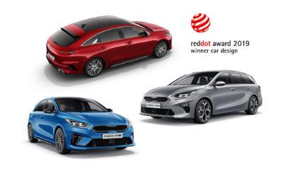  Τρία βραβεία σχεδίασης για τα Kia Ceed, Ceed Sportswagon και ProCeed  Η δεύτερη συνεχής τριπλή βράβευση σχεδίασης για την Kia φέτος  Οι νίκες της Kia στα βραβεία Red Dot έφθασαν τις 24 Η Kia θριάμβευσε και πάλι στα Red Dot Awards, εξασφαλίζοντας τρία βραβεία κύρους στον τομέα της σχεδίασης. Λίγο καιρό μετά το λανσάρισμα της νέας, τρίτης, γενιάς του Kia Ceed, διαθέσιμη προς πώληση σε όλη την Ευρώπη, και οι τρεις νέες εκδόσεις αμαξώματος βραβεύτηκαν για τη σχεδίασή τους στο σημαντικό θεσμό Red Dot Award. Ο τριπλός θρίαμβος στον διεθνώς αναγνωρισμένο διαγωνισμό design σηματοδοτεί τη δεύτερη συνεχή χρονιά κατά την οποία η Kia έκανε το χατ-τρικ στα βραβεία σχεδίασης Red Dot, μετά την αντίστοιχη επιτυχία του 2018 κι έχοντας ήδη αποσπάσει τρία βραβεία iF Design, νωρίτερα το 2019. Το επίτευγμα αυτό τονίζει τη φήμη του Κορεάτη κατασκευαστή στο κορυφαίο design, το οποίο εδώ και περισσότερο από μία δεκαετία έχει διαμορφωθεί από τον Peter Schreyer, Πρόεδρο Σχεδίασης και επικεφαλής σχεδιαστή της Kia Motors. Η μάρκα κέρδισε το πρώτο της Red Award το 2009, με το Kia Soul. Από τότε, η Kia έχει κερδίσει συνολικά 24 βραβεία Red Dot για τη σχεδίαση των μοντέλων της. Σχεδιαστικό χατ-τρικ για τη νέα οικογένεια Kia Ceed Τα τελευταία βραβεία απονεμήθηκαν σε κάθε μία από τις τρεις εκδοχές του νέου Ceed: στο πεντάθυρο Ceed hatchback και το Sportswagon που λανσαρίστηκαν στα μέσα του 2018, καθώς και στο νέο πεντάθυρο shooting brake ProCeed, του οποίου οι πωλήσεις στην Ευρώπη άρχισαν νωρίτερα φέτος. Στην τρίτη γενιά του Kia Ceed άλλαξε η ορθογραφία του ονόματος του μοντέλου (ήταν Kia cee'd), όχι όμως και η σημασία του. Όπως στην πρώτη γενιά που λανσαρίστηκε το 2007, έτσι και το νέο Ceed είναι ένα compact αυτοκίνητο για την ευρωπαϊκή κοινότητα, με ευρωπαϊκή σχεδίαση (Community of Europe, with European Design). Ένα πραγματικά ευρωπαϊκό αυτοκίνητο, το νέο Ceed σχεδιάστηκε στο Ευρωπαϊκό Κέντρο Design της Kia στην Φρανκφούρτη, υπό την καθοδήγηση του Peter Schreyer και του Gregory Guillaume, επικεφ