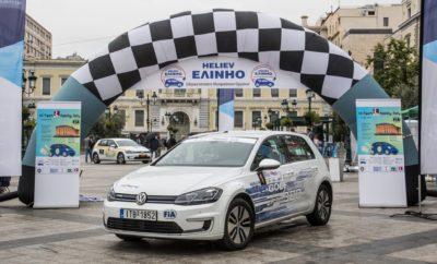 """Με τη χρυσή χορηγία της ΕΚΟ, το ΕΛΙΝΗΟ οργάνωσε το Σαββατοκύριακο 4 – 5 Μαΐου, τον πρώτο αγώνα της σειράς του Κυπέλου αγώνων ακριβείας της FIA για ηλεκτρικά αυτοκίνητα για το 2019. Ουσιαστικά, με την επιτυχημένη τέλεση του """"Hi-Tech EKO Mobility Rally 2019"""", εγκαινιάστηκαν οι νέοι Κανονισμοί της FIA για αυτούς τους αγώνες οι οποίοι προβλέπουν στο τέλος της χρονιάς την απονομή δύο παγκόσμιων Κυπέλων, ένα για τους αγώνες τύπου Regularity και ένα για την χαμηλότερη δυνατή κατανάλωση ενέργειας κατά τη διάρκεια αυτών των αγώνων. Η επιλογή της χώρας μας για την πρεμιέρα αυτή είχε τιμητικό χαρακτήρα για το ΕΛΙΝΗΟ αλλά αποτελούσε και οργανωτική πρόκληση γιατί όχι μόνο ο χρόνος προετοιμασίας ήταν μικρός αλλά και η γεωγραφική μας θέση, σε σχέση με την πολύ χαμηλή διείσδυση της ηλεκτροκίνησης στη χώρα μας, δύσκολα προοιώνιζε μια συμμετοχή ικανοποιητική σε αριθμό αλλά και σε τεχνολογία αιχμής των αυτοκινήτων. Εντούτοις η διεθνώς αναγνωρισμένη υψηλή ποιότητα των διοργανώσεων του ΕΛΙΝΗΟ λειτούργησε θετικά και το μεσημέρι του Σαββάτου ξεκίνησαν από την πλατεία Κοτζιά 13 ηλεκτρικά αυτοκίνητα τα οποία αντιπροσώπευαν την αιχμή της τεχνολογίας της ηλεκτροκίνησης των οχημάτων και μερικά από αυτά αποτελούσαν και παγκόσμιες πρεμιέρες στο χώρο αυτών των αγώνων όπως π.χ. η Jaguar I-Pace και τα Audi e-tron. Φυσικά όλα τα άλλα γνωστά πλέον ηλεκτρικά αυτοκίνητα έδινα το παρόν με τα BMW i3, το Nissan Leaf, το Tesla model 3, τα Zhidou και τα Volkswagen e-Golf να εκκινούν το ένα μετά το άλλο. Τα Volkswagen μάλιστα τελικά έκλεψαν και την παράσταση. Οι εκπρόσωποι της FIA ήταν ενθουσιασμένοι για τη συμμετοχή και την τεχνολογική της στάθμη και εξέφραζαν την ικανοποίησή τους για την απόφαση που έλαβε η FIA να επιλέξει την Ελλάδα για την πρώτη εφαρμογή του Θεσμού του E-Regularity Rally Cup – """"ERRC"""" με τη νέα του μορφή. Ο Αγώνας κύλισε άψογα και οι συμμετέχοντες δεν έπαυαν να εκφράζουν την ικανοποίησή τους για την προσεκτική επιλογή των διαδρομών και την ακρίβεια των μετρήσεων όταν το μεσημέρι της Κυρια"""