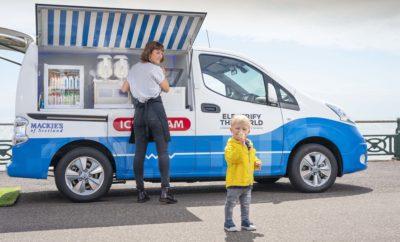 """Η Nissan """"έβγαλε"""" το ICE (ακρωνύμια από το Internal Compustion Engine που σημαίνει κινητήρας εσωτερικής καύσης) από το βαν πώλησης παγωτού, δημιουργώντας ένα αμιγώς ηλεκτροκίνητο, μηδενικών εκπομπών πρωτότυπο όχημα, για την """"Clean Air Day"""" που γιορτάζεται στο Ηνωμένο Βασίλειο, στις 20 Ιουνίου. Για την υλοποίηση αυτού του εγχειρήματος, η Nissan συνεργάστηκε με την Mackie's of Scotland, μια οικογενειακή επιχείρηση γαλακτοπαραγωγής και παγωτού, που τροφοδοτείται με ενέργεια από ανανεώσιμες πηγές, όπως ο άνεμος και ο ήλιος. Το έργο αυτό, καταδεικνύει πώς μια προσέγγιση παραγωγής με φιλικό τρόπο για το περιβάλλον, μπορεί να εξαλείψει την εξάρτηση από τον άνθρακα, σε κάθε στάδιο της παραγωγικής διαδικασίας του παγωτού. Τα περισσότερα φορτηγά πώλησης παγωτού διαθέτουν κινητήρες ντίζελ που λειτουργούν συνεχώς, προκειμένου να διατηρηθεί η ψύξη. Αυτοί οι κινητήρες παράγουν επιβλαβείς εκπομπές, συμπεριλαμβανομένου του διοξειδίου του άνθρακα. Ορισμένες πόλεις του Ηνωμένου Βασιλείου, ήδη προσπαθούν να απαγορεύσουν ή να επιβάλουν πρόστιμα στη διέλευση των οχημάτων αυτών. Το συγκεκριμένο πρωτότυπο φορτηγό της Nissan, αποτελεί μια ιδανική λύση για τους πλανόδιους πωλητές που θέλουν να μειώσουν το δικό τους """"αποτύπωμα"""" άνθρακα, ωφελώντας παράλληλα την υγεία του κοινωνικού συνόλου. Το πρωτότυπο βαν βασίζεται στο e-NV200, το αμιγώς ηλεκτροκίνητο LCV (ελαφρύ επαγγελματικό όχημα) της Nissan. Αποτελεί την ενσάρκωση του Ηλεκτρικού Οικοσυστήματος της Nissan, συνδυάζοντας ένα μηδενικών ρύπων σύστημα μετάδοσης κίνησης, αποθήκευση ενέργειας σε μπαταρίες με """"ζωή"""" δεύτερου κύκλου και παραγωγή ηλιακής ενέργειας. Καθώς ο ηλεκτροκινητήρας του οχήματος τροφοδοτείται από μια μπαταρία 40kWh, ο εξοπλισμός του φορτηγού για το παγωτό, που περιλαμβάνει ένα μηχάνημα σερβιρίσματος μαλακού παγωτού, συρτάρι κατάψυξης και ψυγείο ποτών, τροφοδοτείται από το νέο-αποκαλυφθέν Nissan Energy ROAM. Σχεδιασμένο τόσο για επαγγελματική χρήση, όσο και για αναψυχή, το ROAM είναι ένα φορητό σύστημα ισχύος αποτελούμενο από"""