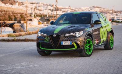 Μια μοναδική περιπέτεια σε 11 χώρες στο τιμόνι μιας Stelvio Quadrifoglio, ειδικά βαμμένης από το Alfa Romeo Design Centre. Στην εκδήλωση συμμετέχουν περισσότερα από 100 supercars, καθώς και διάσημα πρόσωπα από όλο τον κόσμο που υποστηρίζουν τον φιλανθρωπικό χαρακτήρα του Gumball 3000. Η εκδήλωση στην Ιταλία θα πραγματοποιηθεί στις 12 Ιουνίου στην πίστα δοκιμών του Balocco και θα αποτελεί το σημείο αναφοράς της διαδρομής από τη Βενετία στο Μονακό. Η Alfa Romeo Stelvio Quadrifoglio συμμετέχει στη διοργάνωση μαζί με τη διάσημη εταιρεία οπτικών Carrera. To Gumball 3000 αποτελεί μια ξεχωριστή αυτοκινητιστική διοργάνωση που καλύπτει 3.000 μίλια (περίπου 5.000 χλμ.) σε ανοικτούς στην κυκλοφορία δρόμους. Διάσημοι απ' όλο τον κόσμο συμμετέχουν με στόχο να στηρίξουν τους φιλανθρωπικούς σκοπούς της οργάνωσης που προσφέρει βοήθεια σε προγράμματα για νέους, πρωτοβουλίες για την προστασία του περιβάλλοντος, εκπαιδευτικά προγράμματα κτλ. Αυτή τη χρονιά το Gumball ξεκινά την Παρασκευή 7 Ιουνίου από το Ελληνικό νησί της Μυκόνου και θα τερματίσει στην Ibiza στις 15 Ιουνίου. Η διαδρομή περιλαμβάνει την Αθήνα και τη Θεσσαλονίκη, ενώ το κομβόι θα ταξιδέψει στην Κροατία και από εκεί στη Βενετία. Στις 12 Ιουνίου τα πληρώματα θα επισκεφτούν το Balocco, το κέντρο δοκιμών της FCA όπου η Alfa Romeo εξελίσσει όλα τα μοντέλα της. Στη συνέχεια η διαδρομή θα περάσει από το Μονακό και τη Βαρκελώνη πριν τερματίσει στις Βαλεαρίδες νήσους. Ειδικά για τη διοργάνωση η Alfa Romeo ετοίμασε μία μοναδική Stelvio Quadrifoglio με ξεχωριστούς χρωματισμούς που δημιούργησε το Alfa Romeo Design Centre. Η έμπνευση έρχεται από το σχέδιο με το οποίο έκανε τους πρώτους γύρους στην πίστα του Fiorano η C38, το μονοθέσιο της Alfa Romeo Racing. Για την περίσταση οι σχεδιαστές επέλεξαν έναν συνδυασμό που τονίζει το δυναμικό, αλλά και τον πολυτελή χαρακτήρα του μοντέλου. Κυρίαρχο χαρακτηριστικό αποτελεί βέβαια το τετράφυλλο τριφύλλι που συνοδεύει όλα τα αγωνιστικά και τις κορυφαίες εκδόσεις των μοντέλων της μάρκας. Η εντυ