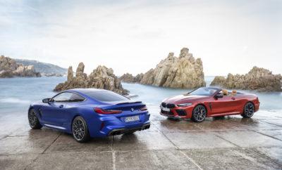 Νέα BMW M8 Coupe (κατανάλωση καυσίμου στο μικτό κύκλο: 10.6 – 10.5 l/100 km, εκπομπές CO2 στο μικτό κύκλο: 242 – 238 g/km) και νέα BMW M8 Competition Coupe (κατανάλωση καυσίμου στο μικτό κύκλο: 10.6 – 10.5 l/100 km, εκπομπές CO2 στο μικτό κύκλο: 242 – 238 g/km), καθώς και νέα BMW M8 Cabrio (κατανάλωση καυσίμου στο μικτό κύκλο: 10.8 – 10.6 l/100 km, εκπομπές CO2 στο μικτό κύκλο: 246 – 241 g/km) και νέα BMW M8 Competition Cabrio (κατανάλωση καυσίμου στο μικτό κύκλο: 10.8 – 10.6 l/100 km, εκπομπές CO2 στο μικτό κύκλο: 246 – 241 g/km).