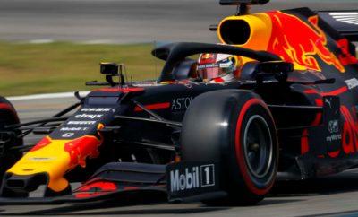 Στο Grand Prix της Γερμανίας το δύο μονοθέσια με κινητήρα Honda, είχαν εξαιρετική απόδοση και τερμάτισαν στην Πρώτη και Τρίτη θέση στο βάθρο των νικητών Το Γερμανικό GP στέφθηκε από απόλυτη επιτυχία τόσο για την Aston Martin Red Bull Racing όσο και για την Toro Rosso, καθώς ο Max Verstappen κατέκτησε τη νίκη, ενώ ο Daniil Kvyat ανέβηκε στο τρίτο σκαλί του βάθρου. Η βροχή που έπεφτε στην πίστα την Κυριακή είχε ως αποτέλεσμα η εκκίνηση του αγώνα να δοθεί πίσω από το αυτοκίνητο ασφαλείας, με τα μονοθέσια να καλύπτουν τέσσερις γύρους σχηματισμού πριν παραταχθούν στη γραμμή εκκίνησης. Τόσο ο Max όσο και ο Daniil έκαναν μέτρια εκκίνηση και έχασαν θέσεις, όμως ο Max ανέβηκε γρήγορα στην 3η θέση όσο ο Pierre Gasly άρχισε να δίνει μάχες για να ανεβεί στην κατάταξη έχοντας χάσει πολύτιμο χρόνο στα πρώτα pit stop. Για τον Alex Albon αυτός ήταν ο πρώτος του αγώνας F1 στο βρεγμένο, αλλά το άστρο του έλαμψε στο πρώτο μέρος του, όταν κατάφερε να ανεβεί στην 8η θέση από τη 16η στην εκκίνηση, όσο ο Daniil ήταν πιο πίσω στη 13η. Οι μεταβαλλόμενες καιρικές συνθήκες είχαν ως αποτέλεσμα περισσότερα pit stop από το συνηθισμένο. Ο Max φόρεσε μεσαία σλικ και βγήκε αλώβητος από ένα τετακέ πριν ξαναφορέσει ενδιάμεσα ελαστικά, χάρη στην άμεση ανταπόκριση της Red Bull. Αφού εξαπέλυσε επίθεση στον Valtteri Bottas, ο Max τέθηκε επικεφαλής του αγώνα μετά από μία εξαιρετική αλλαγή ελαστικών όσο το αυτοκίνητο ασφαλείας ήταν στην πίστα. Συνολικά πέντε pit stop έκανε ο Verstappen και κατάφερε να κρατήσει την ψυχραιμία του σε έναν αγώνα όπου πολλοί άλλοι οδηγοί έκαναν λάθη, με αποτέλεσμα να δημιουργήσει μία διαφορά ασφαλείας μπροστά και να κατακτήσει τη δεύτερη νίκη του στους τρεις τελευταίους αγώνες. Η στρατηγικά θαρραλέα επιλογή της Toro Rosso και του Daniil να φορέσουν στο μονοθέσιο σλικ ελαστικά όταν το safety car ήταν για τρίτη φορά στην πίστα 20 γύρους πριν την καρό σημαία, ενώ οι περισσότερες ομάδες έκαναν το ίδιο αρκετά αργότερα, έφερε τον Kvyat στην 3η θέση και εν συνεχεία στη 2η μετά το προσ
