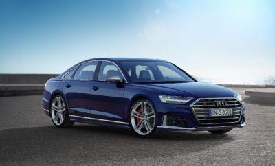 • V8 κινητήρας υψηλής απόδοσης με ισχύ 571 ίππους και ροπή στρέψης 800 Nm • Ο προηγμένος συνδυασμός καινοτόμων συστημάτων ανάρτησης διασφαλίζει εξαιρετικά δυναμικά χαρακτηριστικά • Μια ακόμη ασυναγώνιστη έκδοση S: Με δυναμικό στιλ και κομψή εμφάνιση Το νέο Audi S8 συνδυάζει κορυφαία πολυτέλεια με δυναμικό σπορ στιλ, ενώ ταυτόχρονα αποτελεί σημείο αναφοράς για το Vorsprung durch Technik με τα καινοτόμα συστήματα ανάρτησής του. Ο V8 bi-turbo βενζινοκινητήρας 4.0 TFSI αποδίδει 571 ίππους και αστείρευτη ροπή 800 Nm. Εξοπλίζεται με την υβριδική τεχνολογία MHEV για την τέλεια απόδοση της ισχύος. Η προγνωστική ενεργή ανάρτηση, η ενεργητική τετραδιεύθυνση και η μετάδοση quattro με στάνταρ το σπορ διαφορικό εξασφαλίζουν εξαιρετικά δυναμικά χαρακτηριστικά. Το νέο Audi S8 χρησιμοποιεί συγκεκριμένα σχεδιαστικά στοιχεία για να εκφράσει με απόλυτη ακρίβεια τον σπορ χαρακτήρα του υπερπολυτελούς σεντάν. Εντυπωσιακή απόδοση: ο κινητήρας - Χάρη στην υβριδική τεχνολογία, ο V8 του Audi S8 με τους δύο υπερσυμπιεστές προσφέρει απόλυτα γραμμική απόδοση των 571 ίππων και της ροπής των 800 Nm, καθώς και την άμεση διαθεσιμότητά τους ανά πάσα στιγμή. Η τελική ταχύτητα περιορίζεται ηλεκτρονικά στα 250 χλμ./ώρα. Ειδικοί σύνδεσμοι στον αλουμινένιο στροφαλοθάλαμο ελαχιστοποιούν τις τριβές για εξαιρετικά ομαλή λειτουργία, ενώ τα αυτόματα ενεργοποιημένα κλαπέτα στο σύστημα εξαγωγής/εξάτμισης συνθέτουν έναν μοναδικό, εντυπωσιακό ήχο. Κάθε συναρπαστική στιγμή στο Audi S8 συνδυάζεται με υψηλή άνεση και απόδοση. Το υβριδικό σύστημα (MHEV) συνδράμει διαρκώς στη μείωση της κατανάλωσης καυσίμου. Η μίζα/γεννήτρια με ιμάντα, με την πρόσθετη μπαταρία ιόντων λιθίου σε δίκτυο 48 V, επιτρέπουν σε συνθήκες χαμηλού φορτίου ή στο ελεύθερο ρολάρισμα την προσωρινή απενεργοποίηση του κινητήρα και την επέκταση της αυτονομίας. Στην καθημερινή οδήγηση η εξοικονόμηση καυσίμου φτάνει μέχρι και τα 0,8 λίτρα ανά 100 χιλιόμετρα. Το σύστημα προσωρινής απενεργοποίησης κυλίνδρων (cylinder on demand) λειτουργεί σε συνθήκες χαμηλ