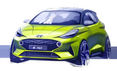 Η Hyundai Motor παρουσιάζει στην Ευρωπαϊκή αγορά μια πρώτη σχεδιαστική απεικόνιση του ολοκαίνουργιου Hyundai i10. Η τελευταία προσθήκη στη σειρά i της Hyundai θα προσφέρει στους πελάτες νέα δυναμική σχεδίαση τόσο στο εξωτερικό όσο και το εσωτερικό του μοντέλου, καθώς και νέα χαρακτηριστικά συνδεσιμότητας και ασφάλειας που θα το καταστήσουν ηγέτη στην κατηγορία του. Tο Νέο i10 θα διαθέτει μεταξύ άλλων χαρακτηριστικών Blue Link®, Apple Car Play, Android Auto, ασύρματη φόρτιση smartphone και κάμερα οπισθοπορείας προσφέροντας μια ολοκληρωμένη οδηγική εμπειρία χωρίς συμβιβασμούς. Το νέο μοντέλο διαθέτει ένα από τα πιο πλήρη πακέτα ασφάλειας στην κατηγορία του. Το ολοκαίνουργιο μοντέλο θα κάνει την παγκόσμια πρεμιέρα του στο Σαλόνι Αυτοκινήτου της Φρανκφούρτης (IAA) το Σεπτέμβριο του 2019. Περισσότερες πληροφορίες θα δημοσιευθούν τις επόμενες εβδομάδες.