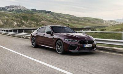 Η BMW M GmbH εισέρχεται στην επόμενη φάση προϊοντικής επέλασης στην πολυτελή κατηγορία με την έλευση νέων, τετράθυρων σπορ μοντέλων υψηλών επιδόσεων: BMW M 8 Gran Coupe Ισχύς: 441 kW/600 hp, μέγιστη ροπή: 750 Nm, κατανάλωση καυσίμου στο μικτό κύκλο: 10,7 – 10,5 l/100 km, εκπομπές CO2 στο μικτό κύκλο: 244 – 240 g/km. BMW M 8 Competition Gran Coupe Ισχύς: 460 kW/625 hp, μέγιστη ροπή: 750 Nm, κατανάλωση καυσίμου στο μικτό κύκλο: 10,7 – 10,5 l/100 km, εκπομπές CO2 στο μικτό κύκλο: 244 – 240 g/km. Χαρακτηριστικές επιδόσεις Μ: υψηλόστροφος V8 κινητήρας 4.400 κ.εκ. με τεχνολογία M TwinPower Turbo αποδίδει έως 460 kW/625 hp. Συστήματα ψύξης και τροφοδοσίας λαδιού σχεδιασμένα για αγωνιστική χρήση. Σπορ σύστημα εξαγωγής με ηλεκτρονικά ελεγχόμενα κλαπέτα παράγει ένα συναρπαστικό ήχο κινητήρα. Ευφυής μεταφορά κινητήριας ισχύος στο δρόμο χάρη στο οκτατάχυτο κιβώτιο M Steptronic με Drivelogic και το σύστημα τετρακίνησης M xDrive που συνδέεται με το Active M Differential. Επιλογή από τρία προγράμματα: 4WD, 4WD Sport και 2WD με αμιγή πίσω κίνηση και απενεργοποιημένο το σύστημα ελέγχου οδηγικής ευστάθειας. Εξαιρετικές επιδόσεις: 0 - 100 km/h σε 3,3 δευτερόλεπτα (BMW M8 Gran Coupe) / 3,2 δευτ. (BMW M8 Competition Gran Coupe). Ο αυθεντικός χαρακτήρας σπορ αυτοκινήτου απορρέει από την εξέλιξη των μοντέλων δίπλα στις δίθυρες εκδόσεις της νέας BMW M8 και την αγωνιστική BMW M8 GTE, γνωστή από το Παγκόσμιο Πρωτάθλημα Αντοχής [World Endurance Championship]. Διεξοδικό σετάρισμα στα κέντρα δοκιμών των Miramas και Arjeplog και βελτιώσεις στο σιρκουί του Nürburgring-Nordschleife και άλλες αγωνιστικές πίστες πετυχαίνουν έναν ασυναγώνιστο συνδυασμό δυναμικής ευφυίας, ευελιξίας και ακρίβειας Μ. Παγκόσμια πρεμιέρα στο Σαλόνι Αυτοκινήτου του Los Angeles 2019, άφιξη στην αγορά από τον Απρίλιο του 2020, η BMW M8 Gran Coupe First Edition προφέρεται ως αποκλειστικό μοντέλο λανσαρίσματος. Ξεχωριστό, υπερπολυτελές σπορ αυτοκίνητο με αξιοσημείωτες επιδόσεις. Έντονη εμπειρία σπορ αυτοκινήτου και για τους τέ