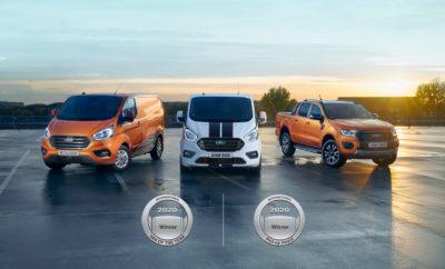 """• Τα πρώτα στην κατηγορία τους εξηλεκτρισμένα Ford Tra¬¬¬nsit Custom Plug-In Hybrid και EcoBlue Hybrid van απέσπασαν τον τίτλο """"International Van of the Year"""". Το Ford Ranger κατέκτησε από την πλευρά του την κορυφαία – επίσης - διάκριση """"International Pick-up Award"""" • Η κριτική επιτροπή επαίνεσε τη σύστημα κίνησης Ford Hybrid του Transit Custom, το οποίο εξασφαλίζει σημαντική εξοικονόμηση καυσίμου βοηθώντας τις επιχειρήσεις να εκπληρώνουν τους στόχους τους για καθαρή ατμόσφαιρα αλλά και να έχουν πρόσβαση με τα οχήματά τους σε περιβαλλοντικές ζώνες • Το Ford Ranger προσφέρει βελτιωμένες επιδόσεις και κατανάλωση καυσίμου σε συνδυασμό με προηγμένη συνδεσιμότητα και τεχνολογίες υποστήριξης οδηγού που προάγουν την παραγωγικότητα των επιχειρήσεων • Η Ford γίνεται τώρα ο πρώτος κατασκευαστής που κερδίζει τις διακρίσεις IVOTY και IPUA την ίδια χρονιά, δύο φορές Η Ford κυριολεκτικά σάρωσε τα φετινά βραβεία στην κατηγορία των ελαφρών επαγγελματικών οχημάτων, καθώς η ηλεκτροκίνητη σειρά Ford Hybrid Transit Custom απέσπασε τον τίτλο International Van of the Year (IVOTY) 2020, ενώ την ίδια στιγμή το Ford Ranger κατέκτησε την κορυφαία επίσης διάκριση International Pick-up Award (IPUA) 2020. Μετά την αντίστοιχη επιτυχία το 2013, η Ford είναι ο πρώτος κατασκευαστής που κερδίζει τους τίτλους IVOTY και IPUA την ίδια χρονιά για δεύτερη φορά. Σε ειδική εκδήλωση που πραγματοποιήθηκε στη Λυών της Γαλλίας, τα νέα Transit Custom Plug-In Hybrid και Transit Custom EcoBlue Hybrid αναδείχτηκαν νικητές του περίοπτου ετήσιου βραβείου IVOTY από μία έγκριτη επιτροπή 25 συντακτών του ειδικού Τύπου που προέρχονταν από ισάριθμες ευρωπαϊκές χώρες. Τα μέλη της κριτικής επιτροπής εκθείασαν τα εξηλεκτρισμένα συστήματα κίνησης της γκάμας Ford Hybrid που διατίθενται στο Transit Custom, τα οποία σχεδιάστηκαν με σκοπό να συμβάλλουν στη μείωση του κόστους καυσίμου για τους διαχειριστές στόλων, να επιτρέπουν την πρόσβαση των οχημάτων που κινούν στις ολοένα και περισσότερες περιβαλλοντικές ζώνες και να προσφέρο"""